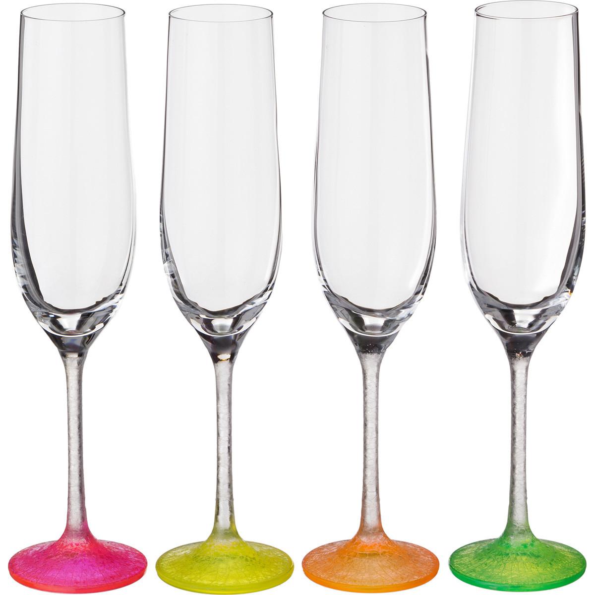 {} Bohemia Crystal Набор бокалов для шампанского Bambie  (24 см - 4 шт) набор для кофе crystal bohemia mokko 4 предмета