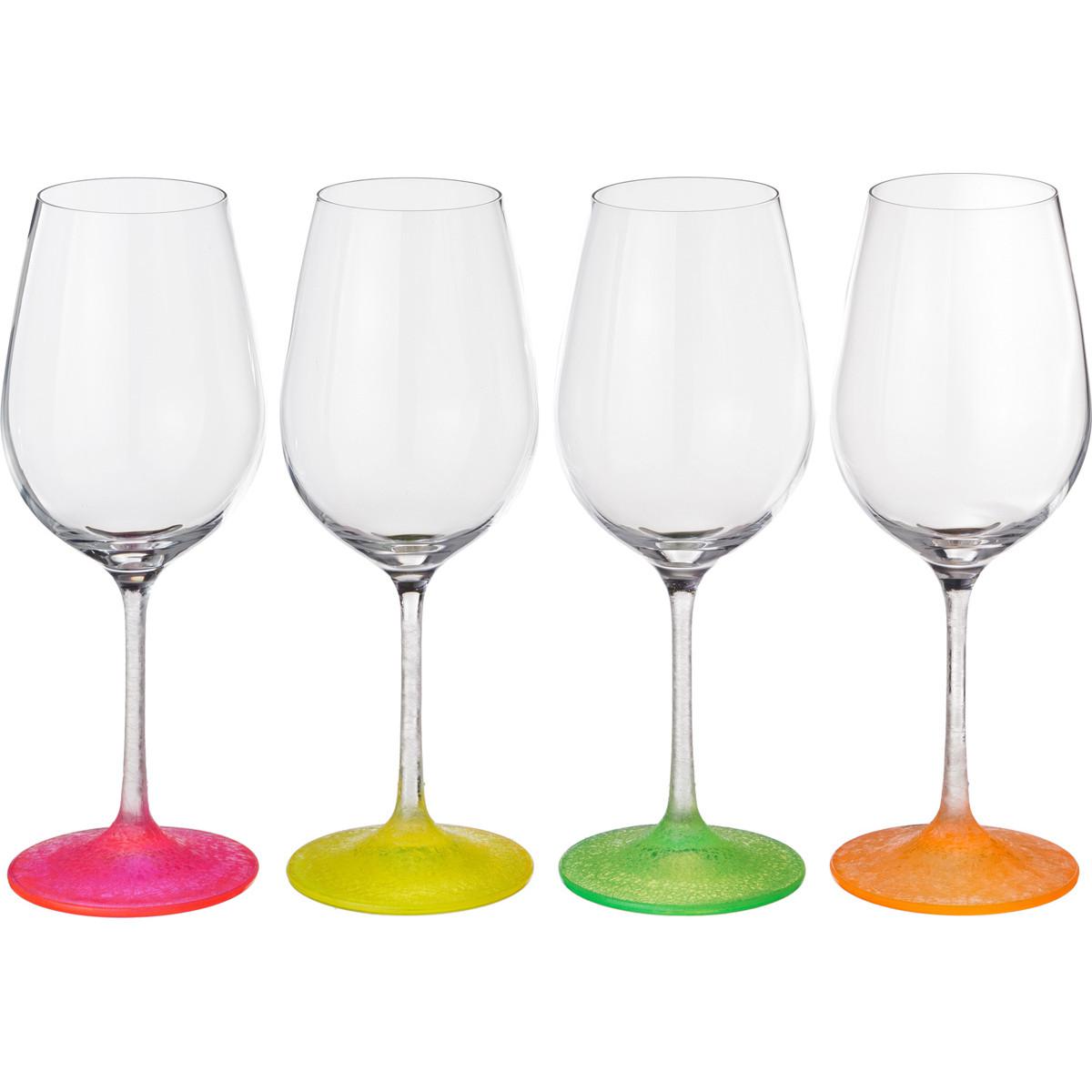 {} Bohemia Crystal Набор бокалов для вина Evonne  (23 см - 4 шт) набор для кофе crystal bohemia mokko 4 предмета