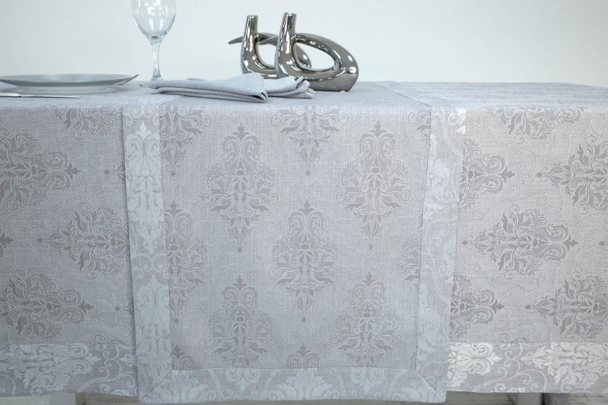 {} Arya Дорожка на стол Conchitta Цвет: Серый (45х150 см) arya arya покрывало dagger цвет серый 250х260 см