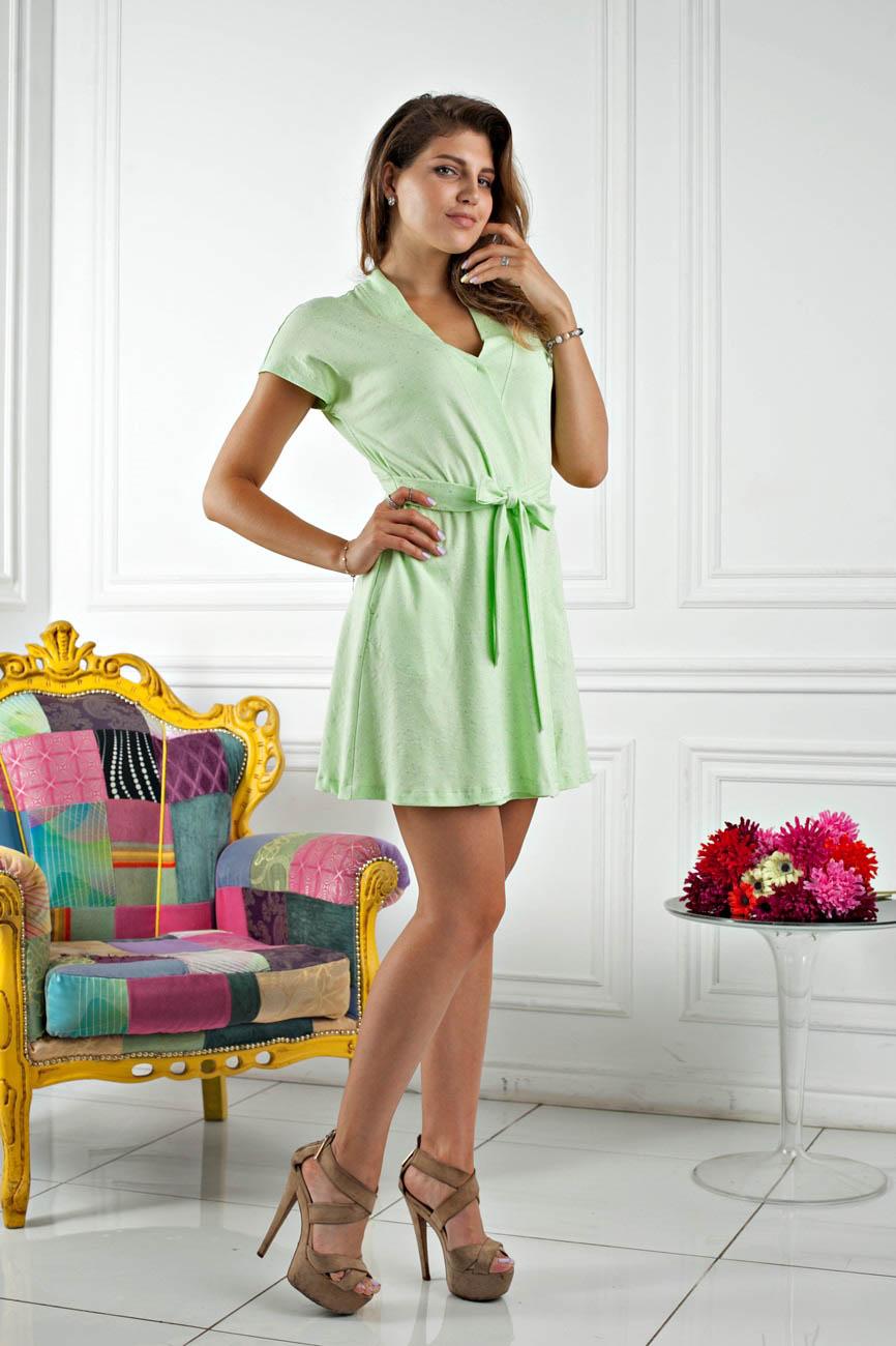 Домашние халаты Five Wien Домашний халат Sweet Цвет: Салатовый (S)