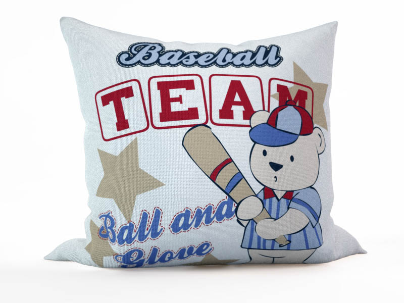 где купить  Декоративные подушки StickButik Декоративная подушка Мишка - Бейсболист (45х45)  по лучшей цене