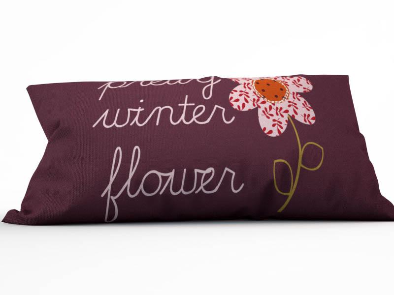 где купить Декоративные подушки StickButik Декоративная подушка Зимние Цветы (25х45) по лучшей цене