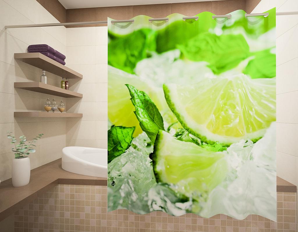 Шторы и карнизы для ванной Fototende Шторы для ванной Jenessa  (145х180)