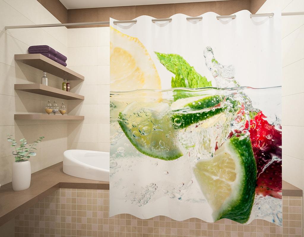 Шторы и карнизы для ванной Fototende Шторы для ванной Jerrod  (145х180)