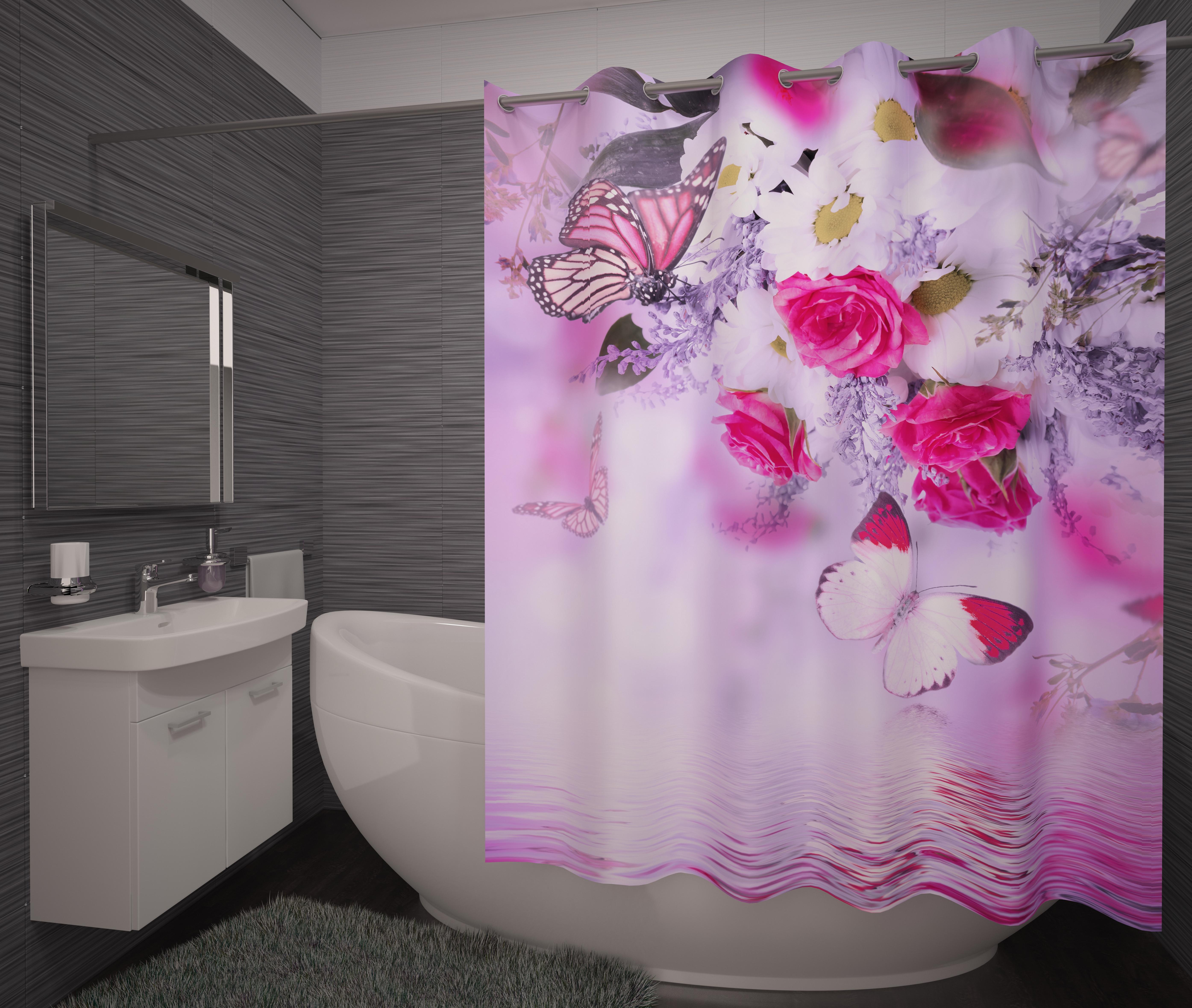 Шторы и карнизы для ванной Fototende Фотошторы для ванной Stanza