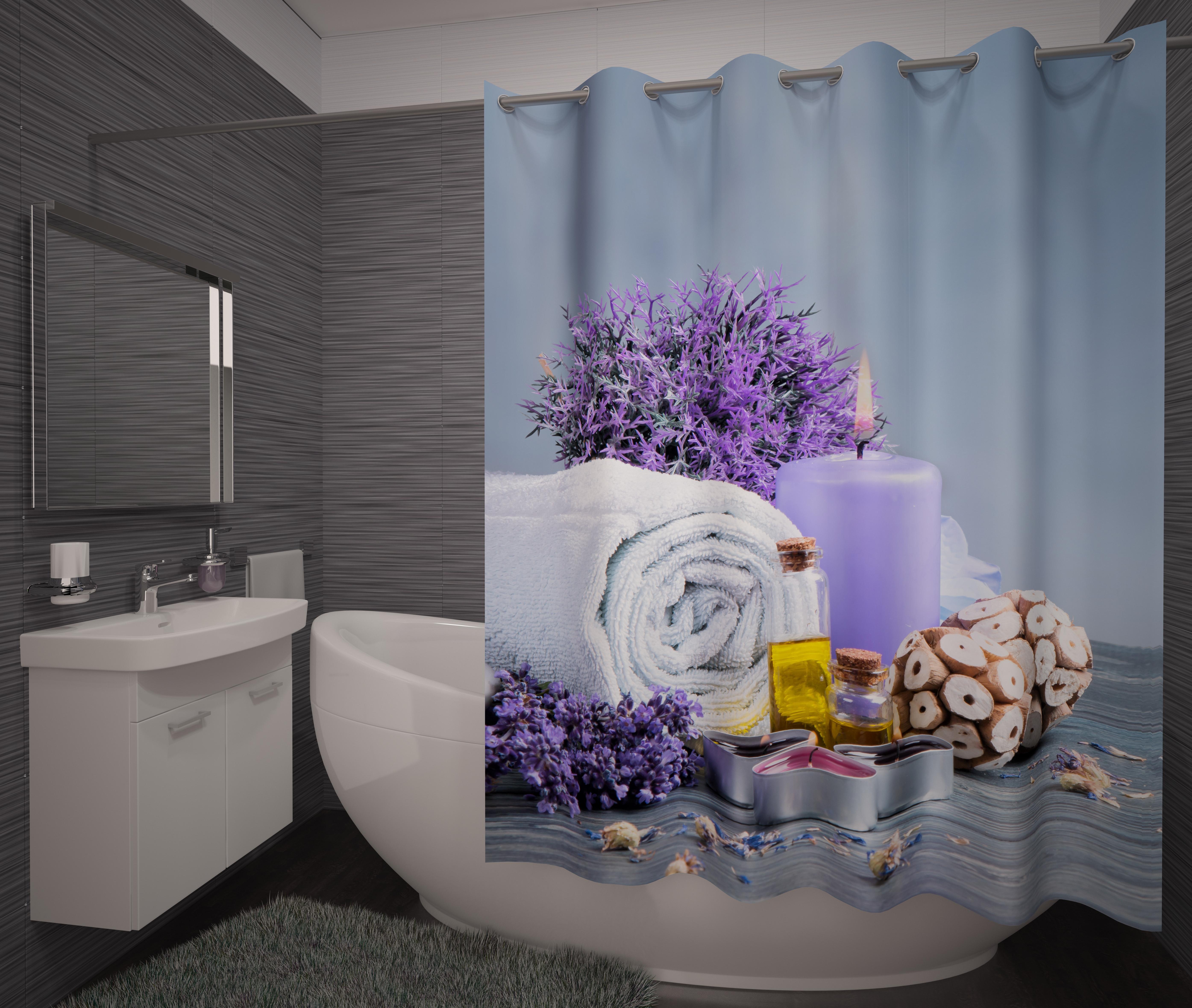 Шторы и карнизы для ванной Fototende Фотошторы для ванной Eternty