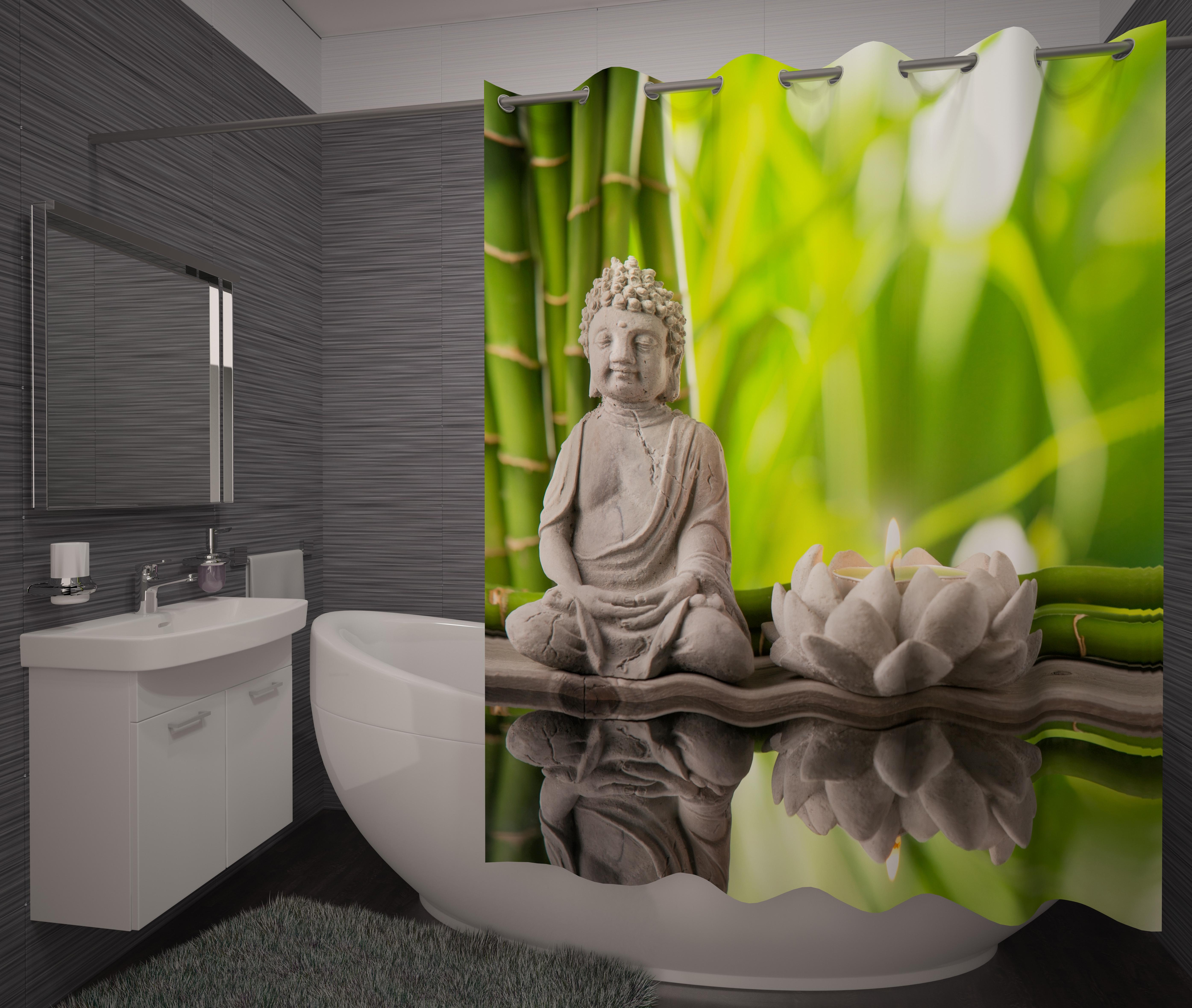 Шторы и карнизы для ванной Fototende Фотошторы для ванной Britney шторы fototende фотошторы таинственный лебедь
