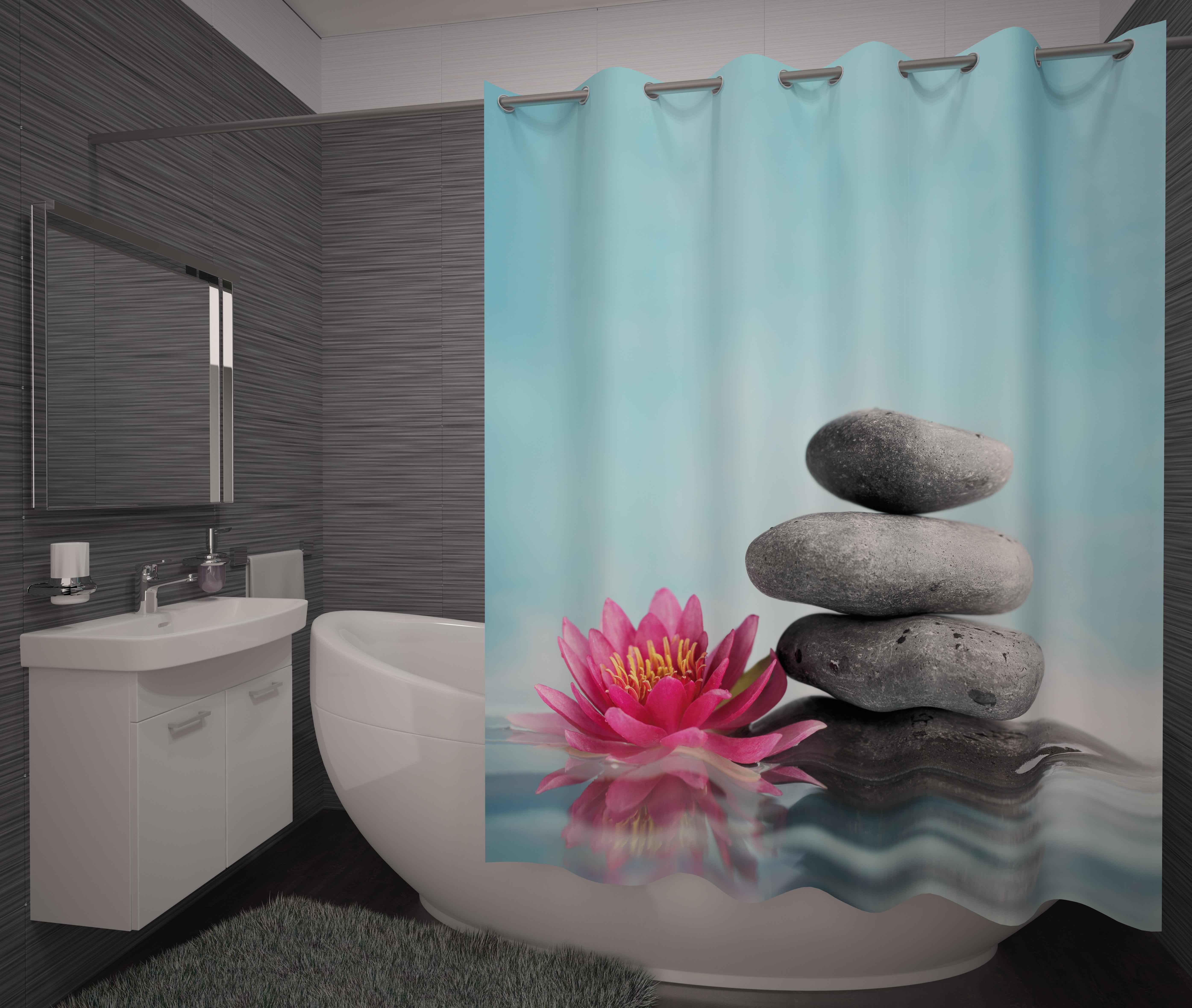 Шторы и карнизы для ванной Fototende Фотошторы для ванной Le шторы fototende фотошторы таинственный лебедь