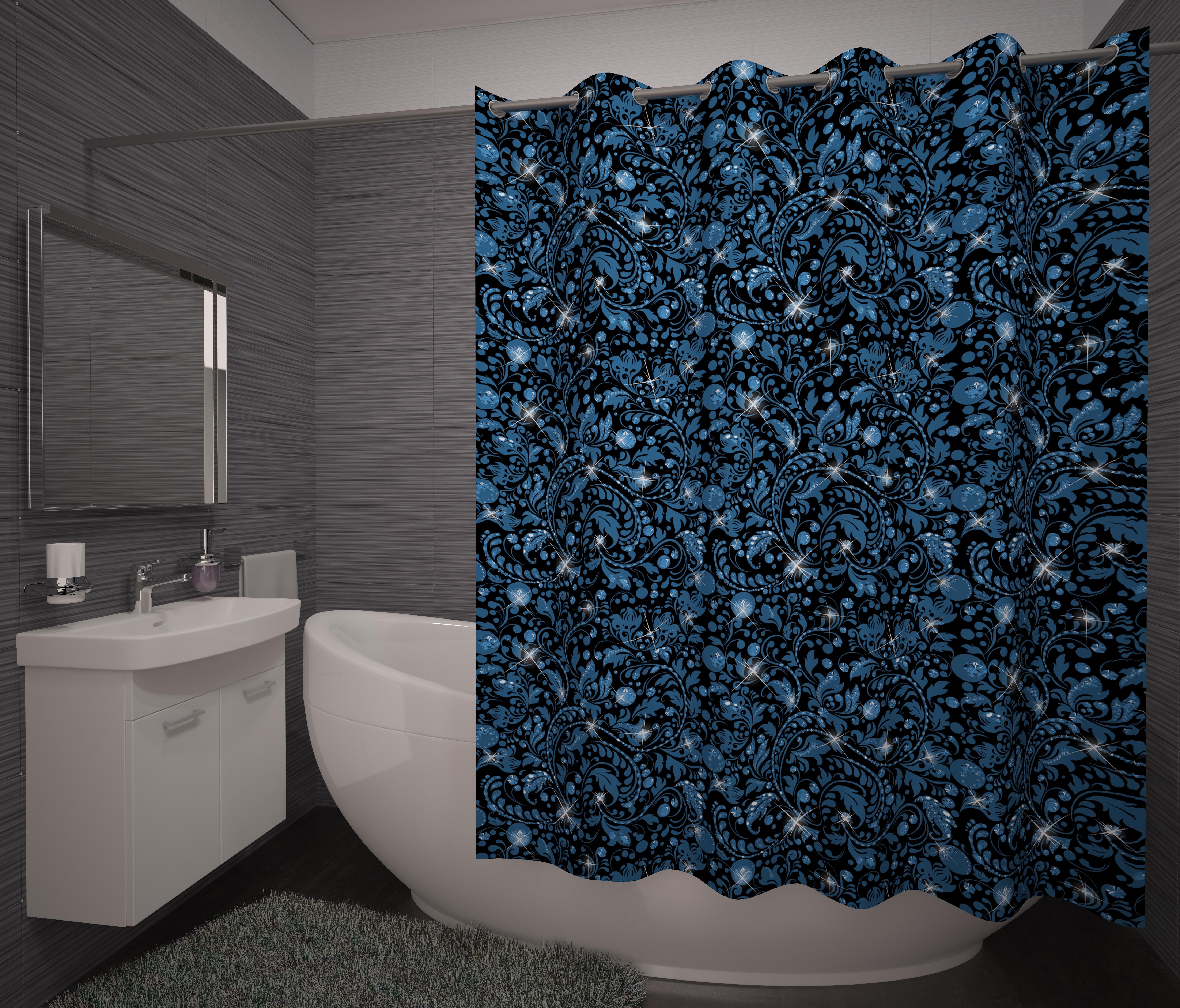 Шторы и карнизы для ванной Fototende Фотошторы для ванной Hera