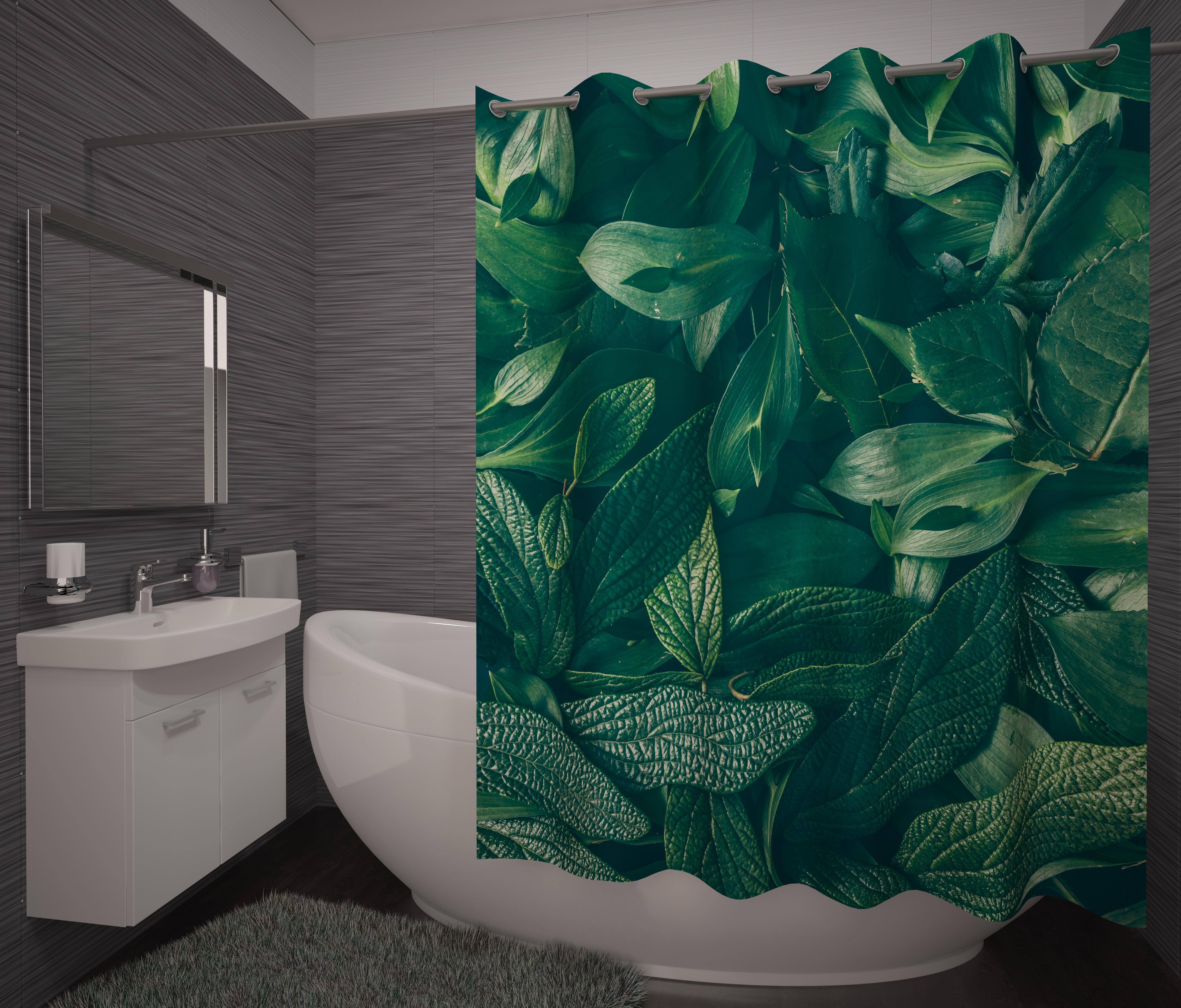 Шторы и карнизы для ванной Fototende Фотошторы для ванной Tianna