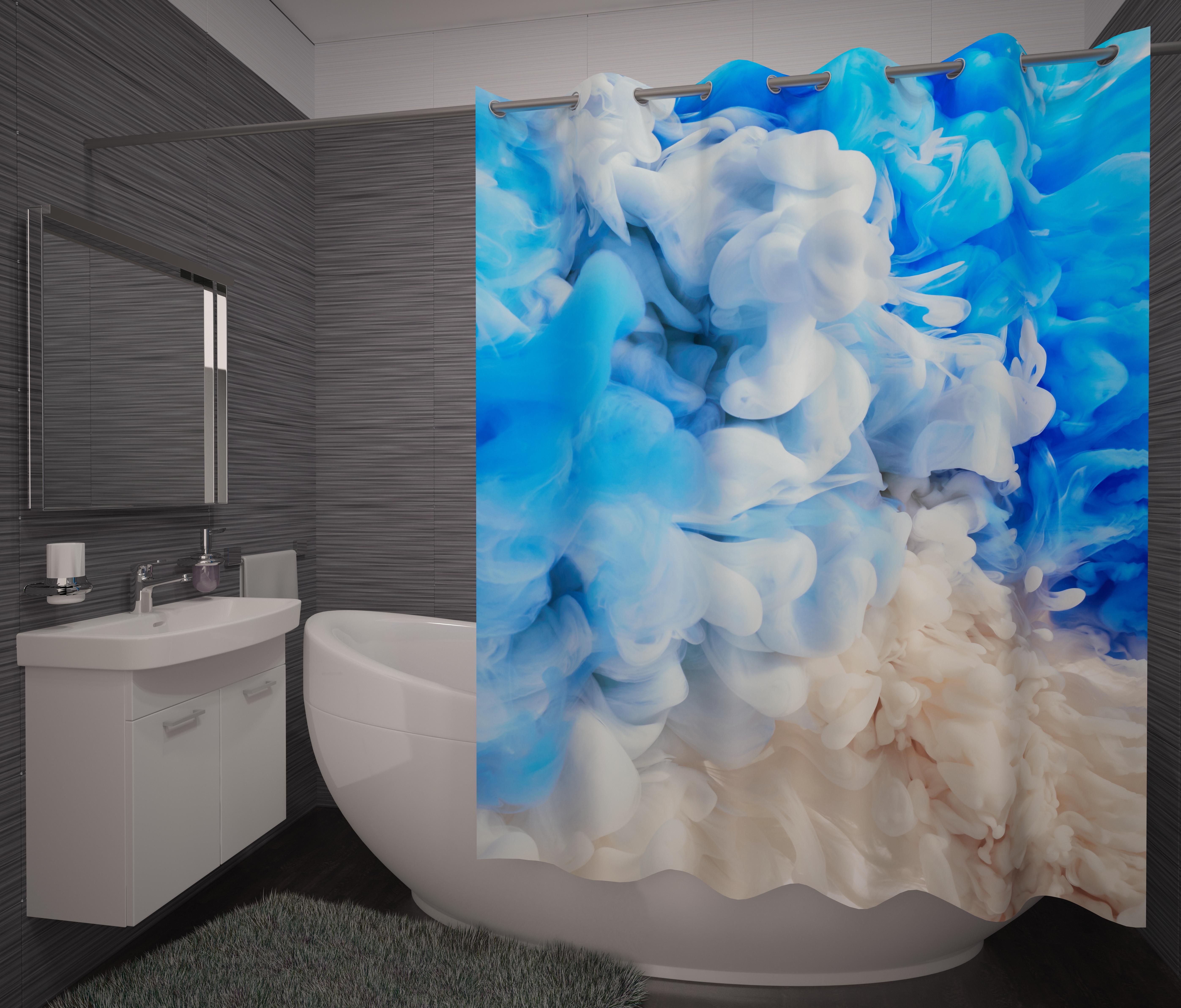Шторы и карнизы для ванной Fototende Фотошторы для ванной Lavander
