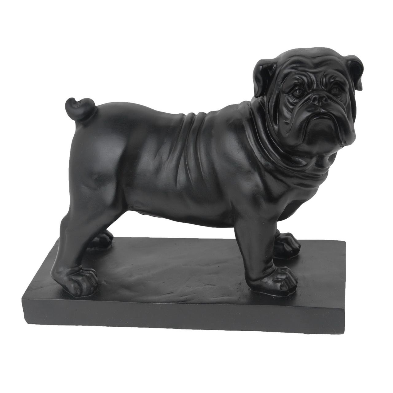 {} ARTEVALUCE Статуэтка Мопс Черный (11х19х24 см) статуэтка леопард черный 51x23x20 см 944624