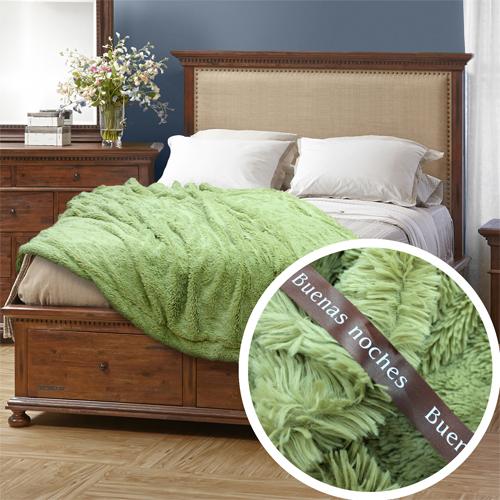 где купить  Плед Buenas Noches Плед Длинный Ворс Цвет: Зеленый (160х220 см)  по лучшей цене