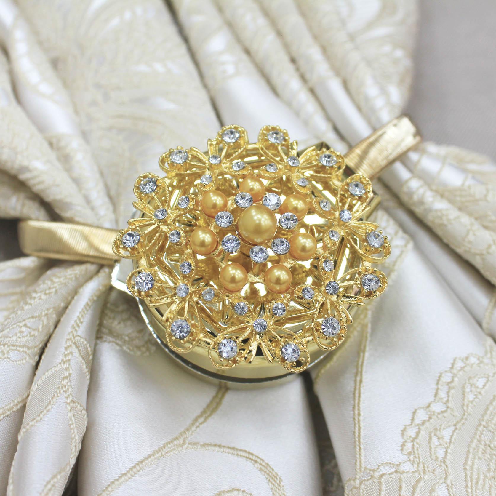 Карнизы и аксессуары для штор Ajur Подхват для штор магнитный Cain Цвет: Золотой marc cain блузка