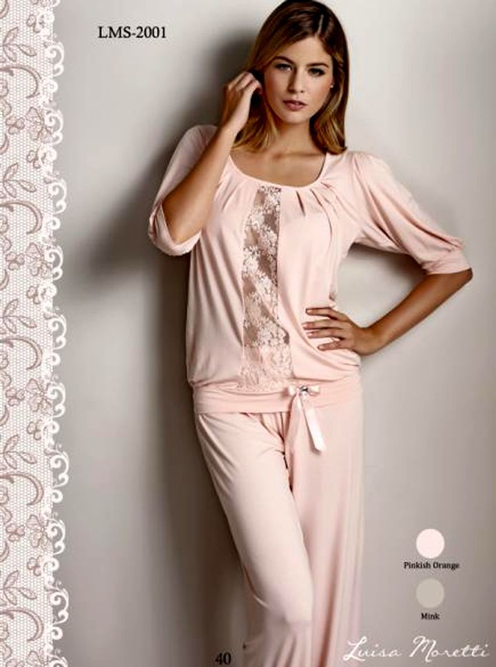 цена Пижамы Luisa Moretti Пижама Sadie Цвет: Пудровый (M) онлайн в 2017 году
