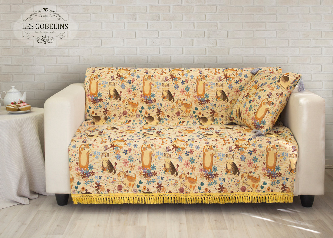 Детское Покрывало Les GobelinsДетские Покрывала<br>Производитель: Les Gobelins<br>Страна производства: Россия<br>Полутороспальная накидка на диван.<br>Материал: Гобелен<br>Состав материала: Хлопок - 50 %, Полиэстер - 50 %<br>Размер (Ширина х Длина): 160х200 см<br>Упаковка: Полиэтиленовый пакет с клейким клапаном и бумажным вкладышем с информацией о продукте.<br><br>Накидка украшена по краю бахромой (с четырех сторон).<br>Декоративные наволочки в комплекте не идут.<br>Расположение рисунка на накидке соответствует фотографии.<br><br>Тип: Детские покрывало<br>Размерность комплекта: Детские1.5-спальное<br>Материал: Гобелен<br>Размер наволочки: None<br>Подарочная упаковка: None<br>Для детей: да<br>Ткань: Гобелен<br>Цвет: None