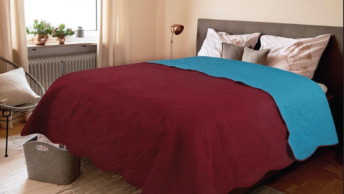 где купить Покрывало Amore Mio Покрывало Alba Цвет: Бордовый (160х200 см) по лучшей цене
