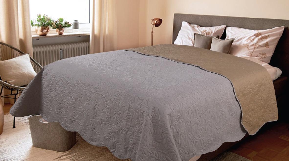 где купить Покрывало Amore Mio Покрывало Alba Цвет: Серый (200х220 см) по лучшей цене