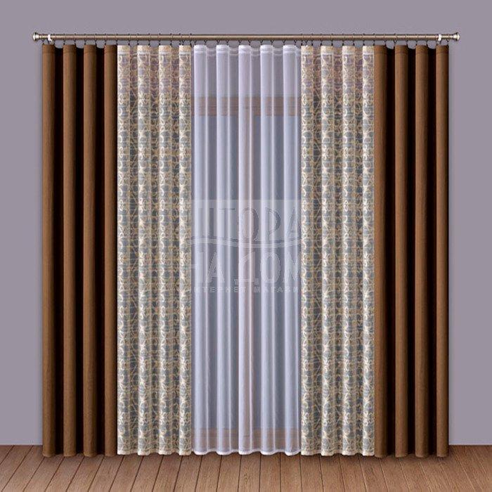 Шторы Wisan Классические шторы Amey Цвет: Коричневый