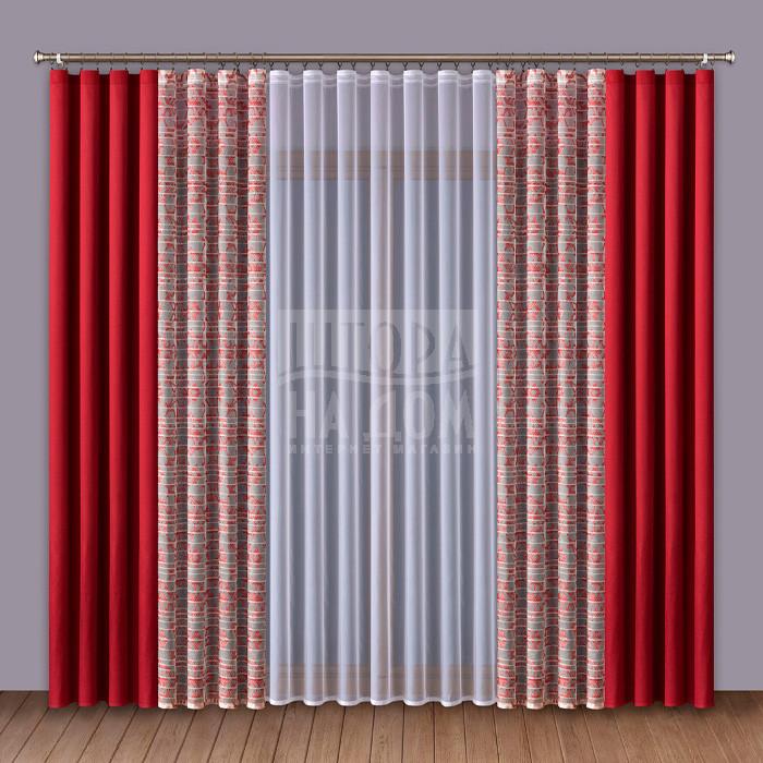 Шторы Wisan Классические шторы Amey Цвет: Красный wisan wisan классические шторы noele