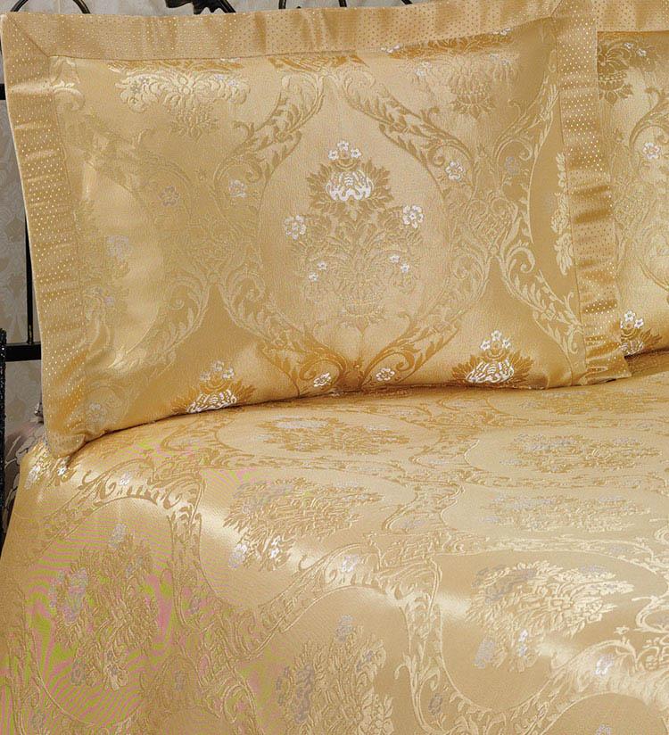 Покрывало NAZSU Покрывало Damask Цвет: Золотой (240х260 см)  покрывало nazsu cinar 240х260 2 наволочки 50х70 золотой 5827