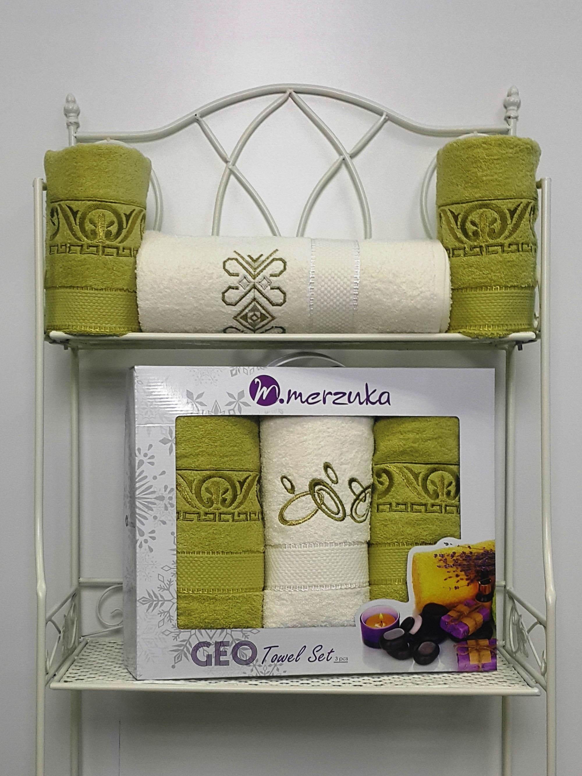 Полотенца Oran Merzuka Полотенце Geо Цвет: Зелёный (Набор) набор из 3 полотенец merzuka sakura 50х90 2 70х140 8432 оранжевый
