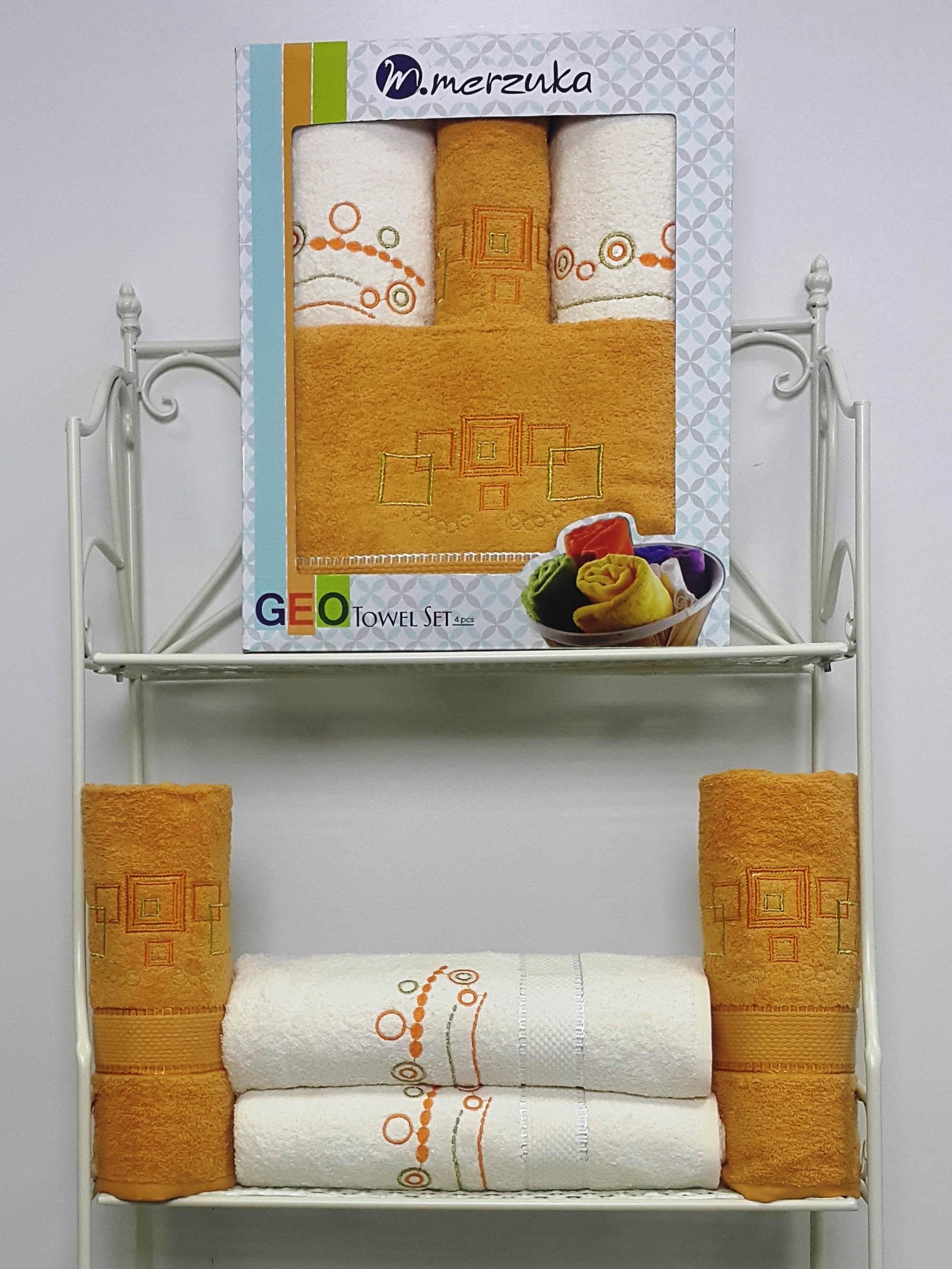 Полотенца Oran Merzuka Полотенце Geo Цвет: Горчичный (Набор) набор из 2 полотенец merzuka sakura 50х90 70х140 8430 кремовый