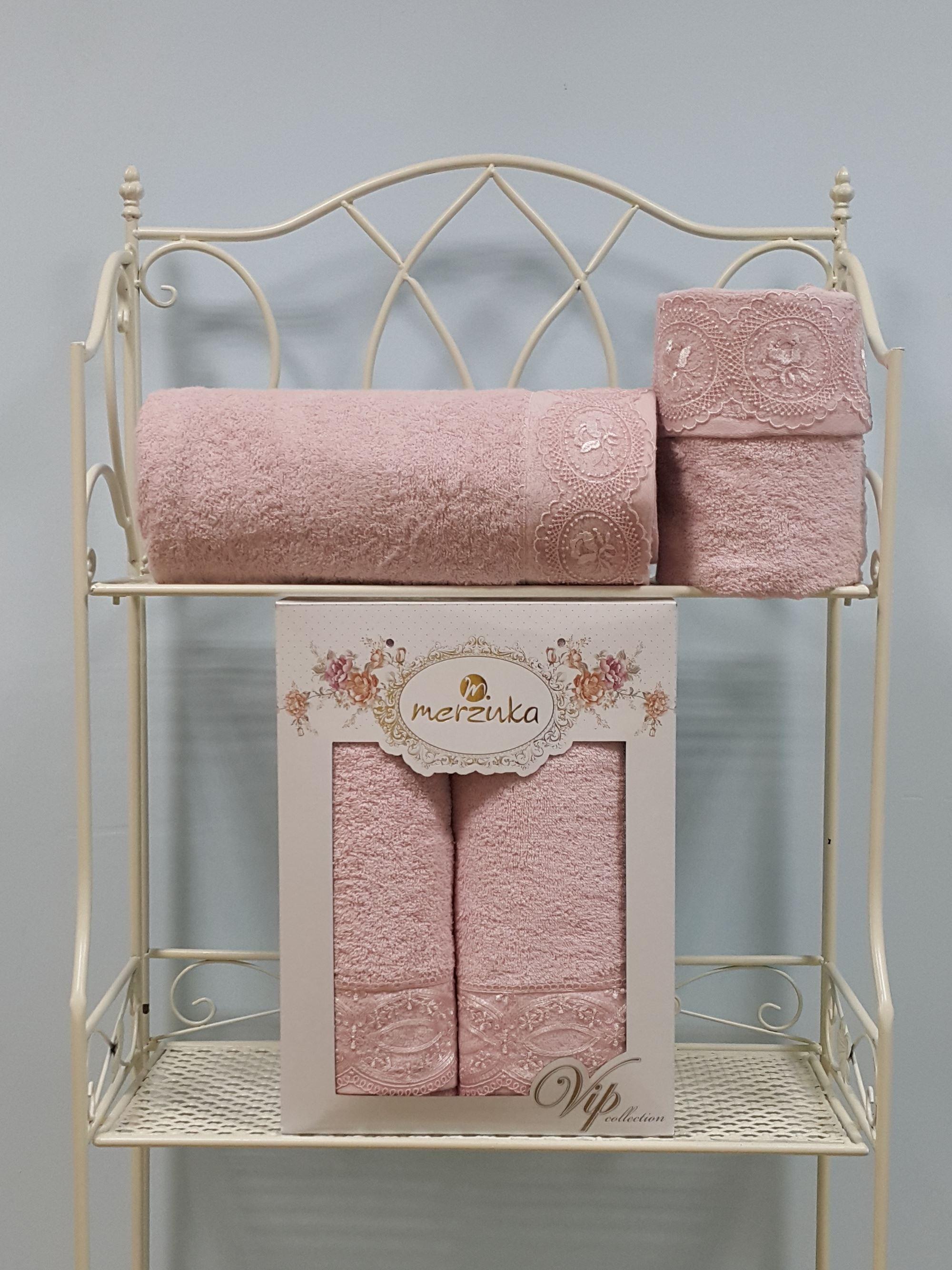 где купить  Полотенца Oran Merzuka Набор из 2 полотенец Elit Цвет: Розовый  по лучшей цене