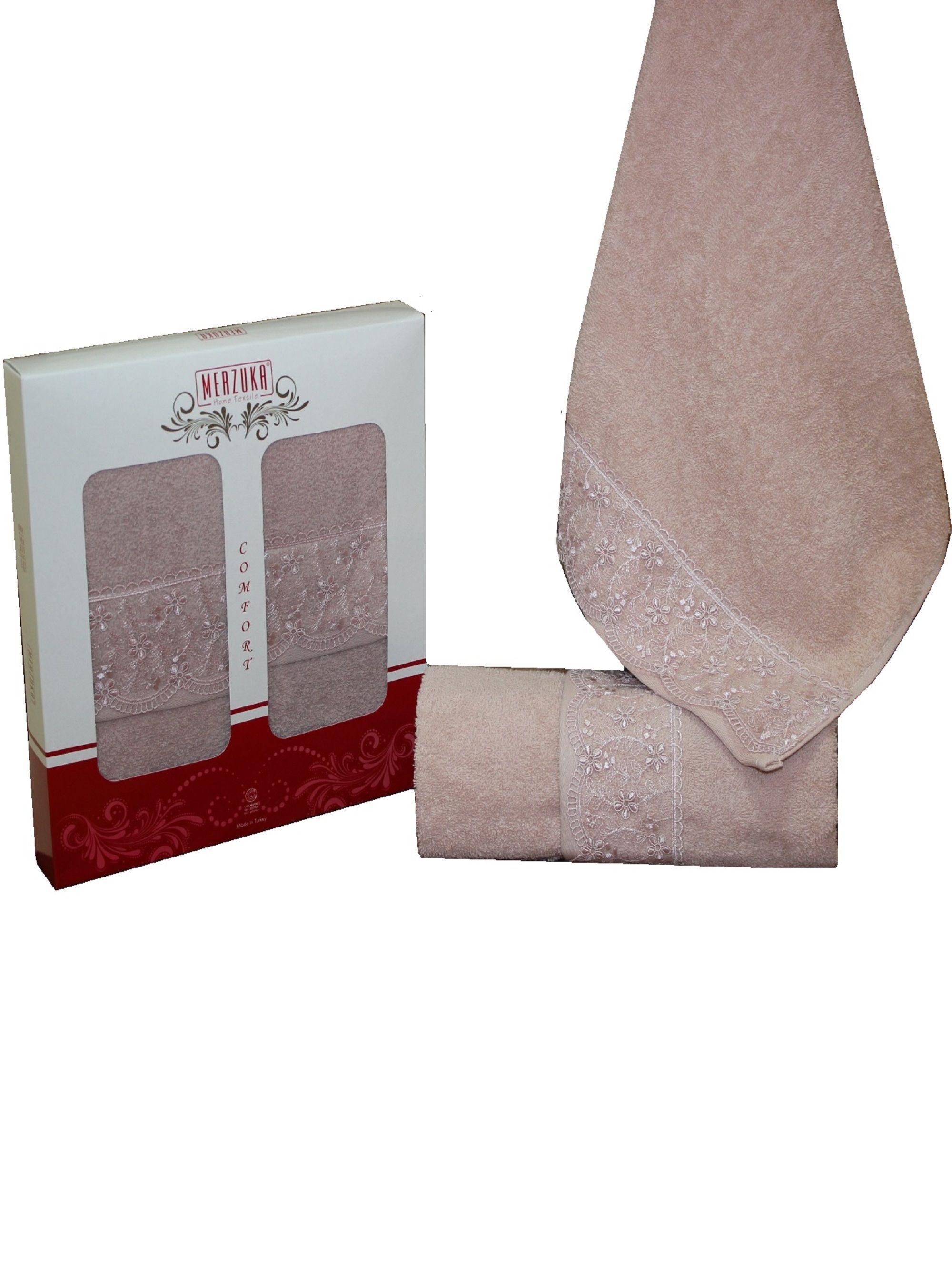 Полотенца Oran Merzuka Полотенце Elit Цвет: Темно-Розовый (50х90 см - 2 шт) набор из 3 полотенец merzuka sakura 50х90 2 70х140 8432 терракотовый