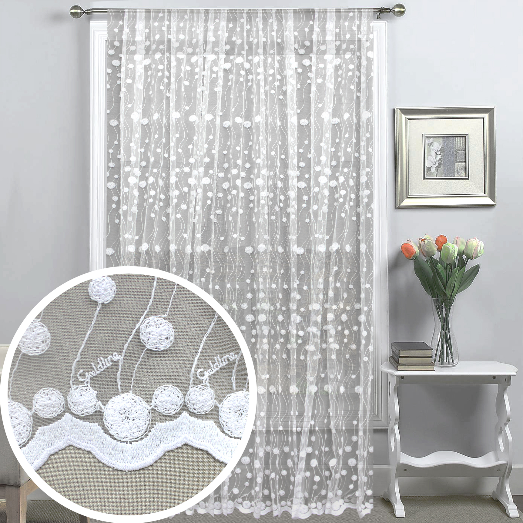 Шторы Amore Mio Классические шторы Huldah Цвет: Белый