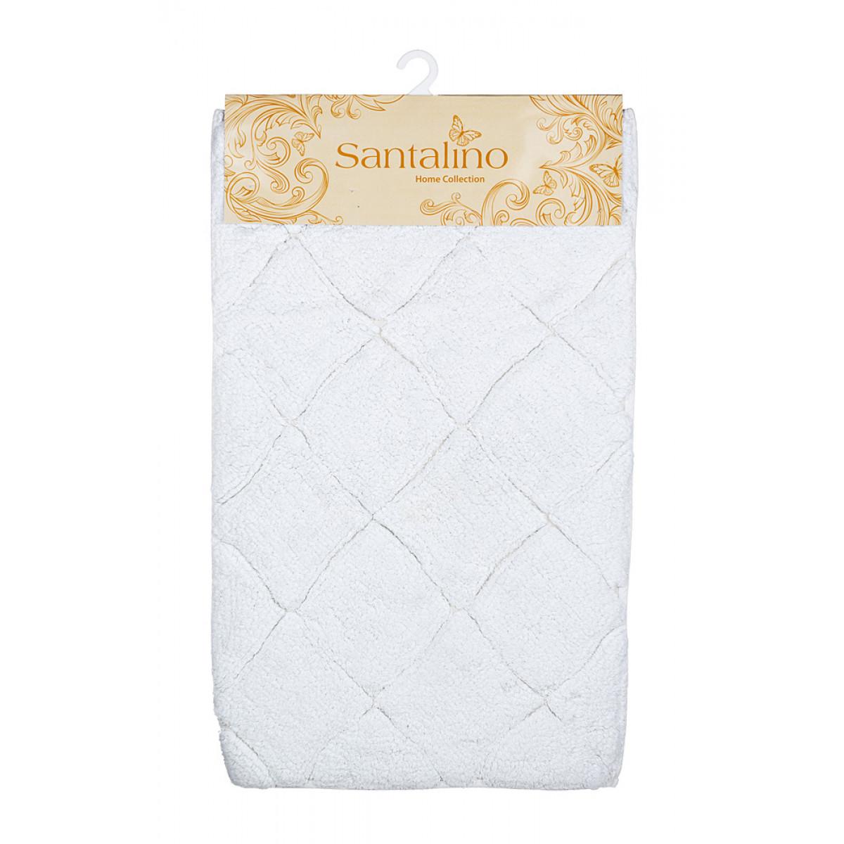 Аксессуары для ванной и туалета Santalino Коврик для ванной Вайт (50х80 см) аксессуары для ванной и туалета santalino коврик для ванной carol 46х75 см