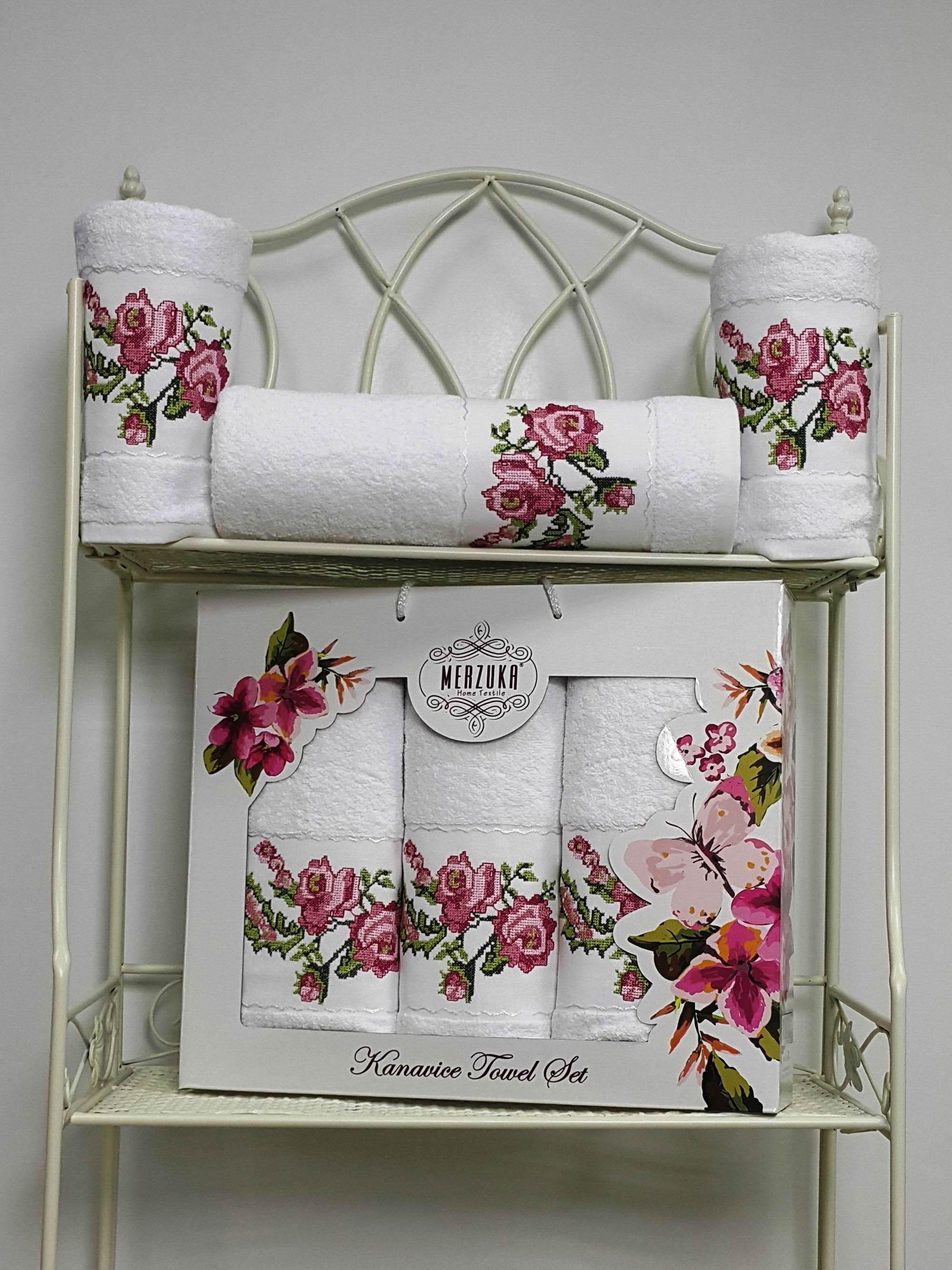 Полотенца Oran Merzuka Полотенце Kanavice Цвет: Белый (Набор) набор из 2 полотенец merzuka sakura 50х90 70х140 8430 кремовый
