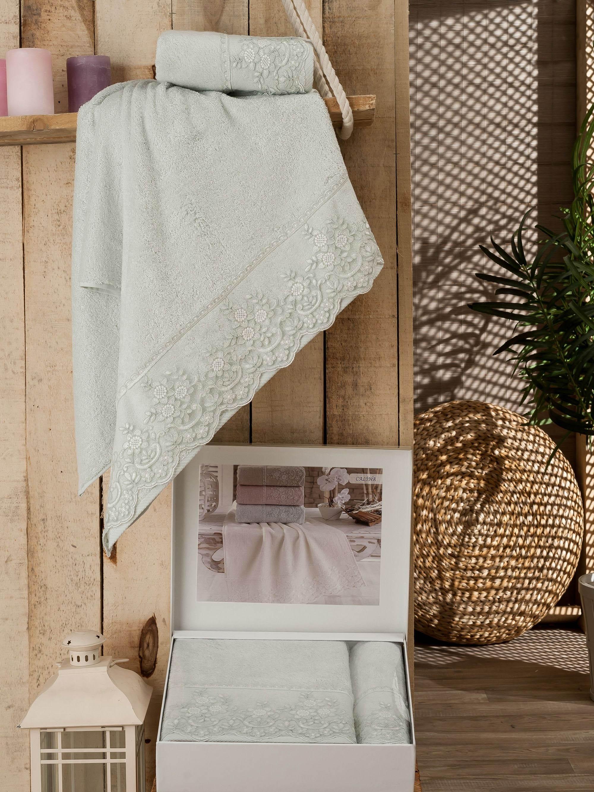 Полотенца DO'n'CO Полотенце Calina Цвет: Мятный (Набор) полотенце набор бамбук 903813