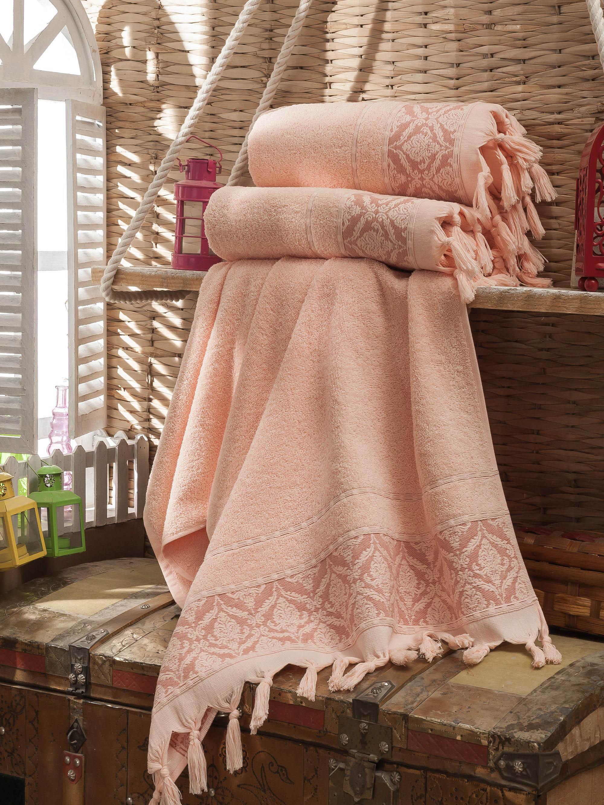 DO'n'CO Набор Полотенец Janset Цвет: Розовый (70х140 см — 3 шт)