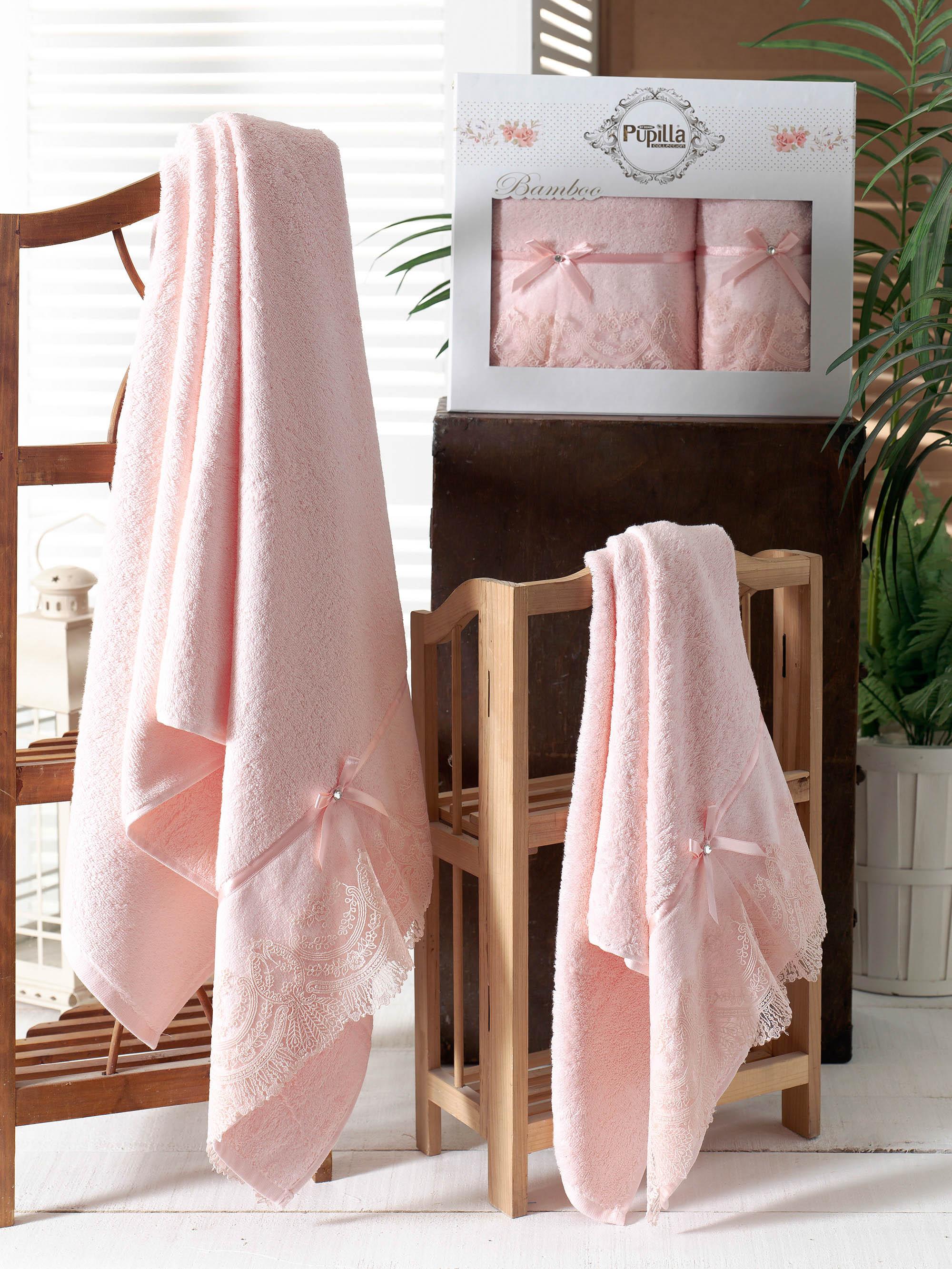 Полотенца Pupilla Набор из 2 полотенец Vita Цвет: Розовый