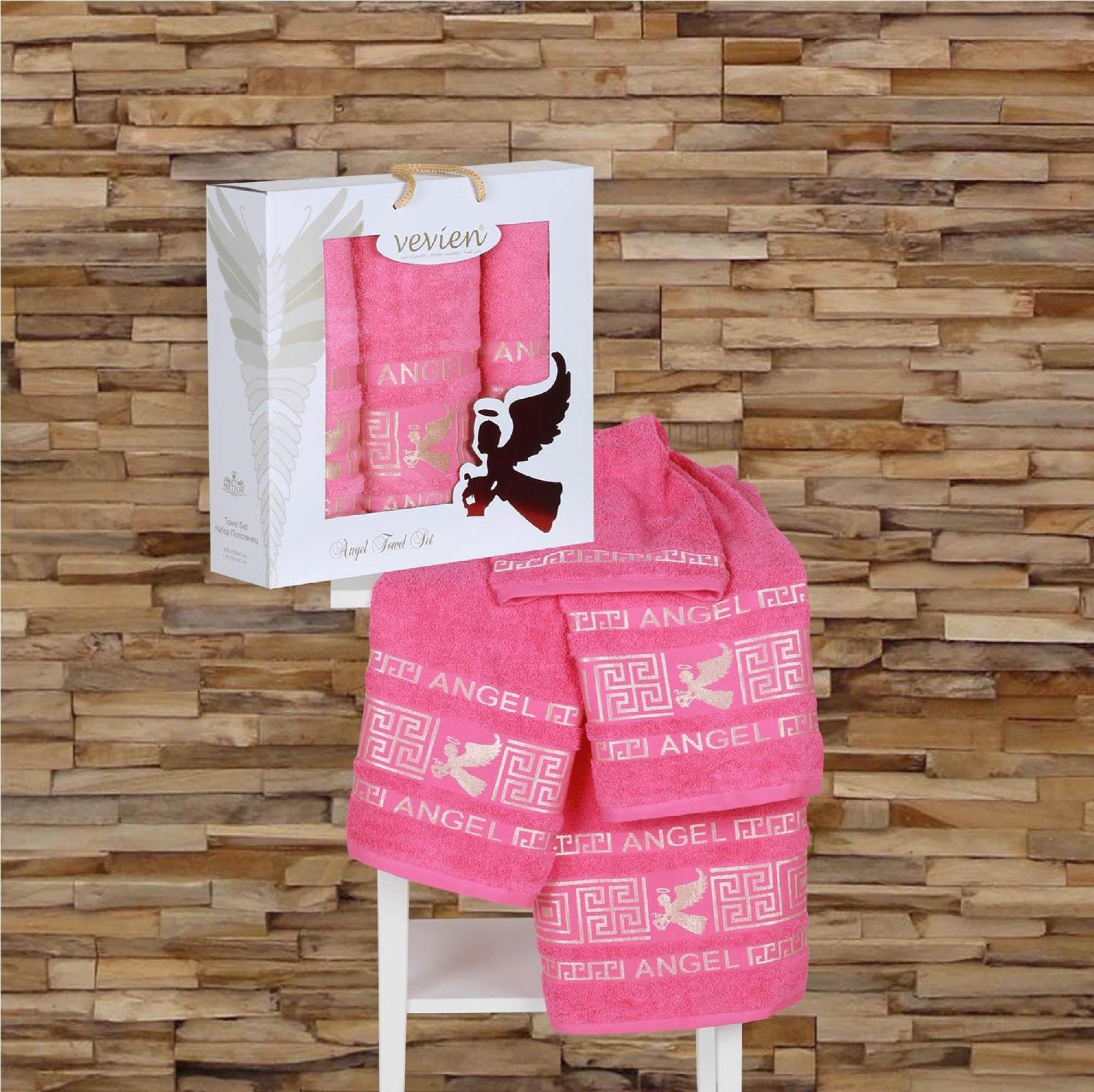 Полотенца Sokuculer Полотенце Angel Цвет: Брусничный (Набор) набор из 3 полотенец merzuka sakura 50х90 2 70х140 8432 терракотовый