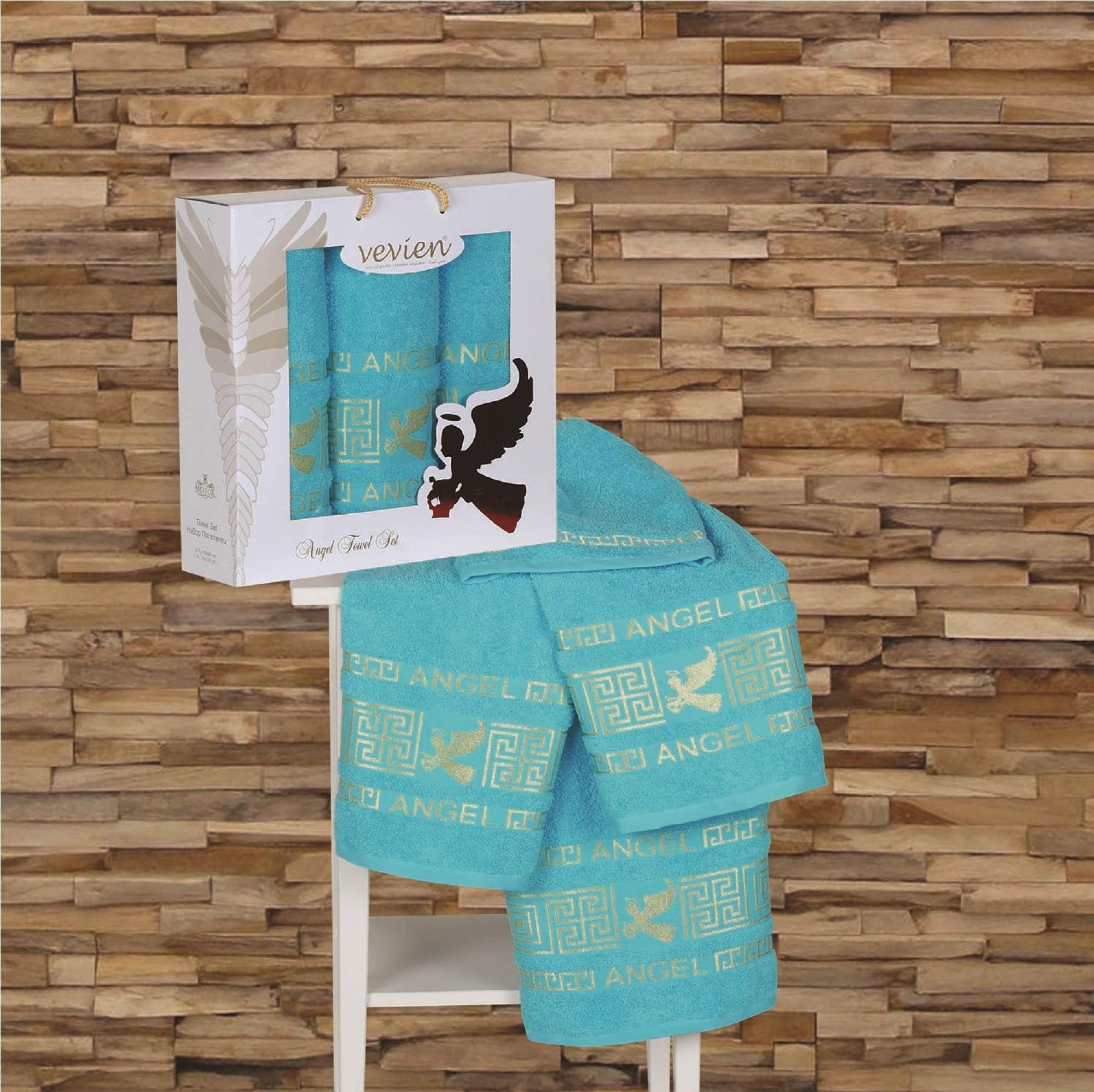 Полотенца Sokuculer Полотенце Angel Цвет: Бирюзовый (Набор) набор из 3 полотенец merzuka sakura 50х90 2 70х140 8432 терракотовый