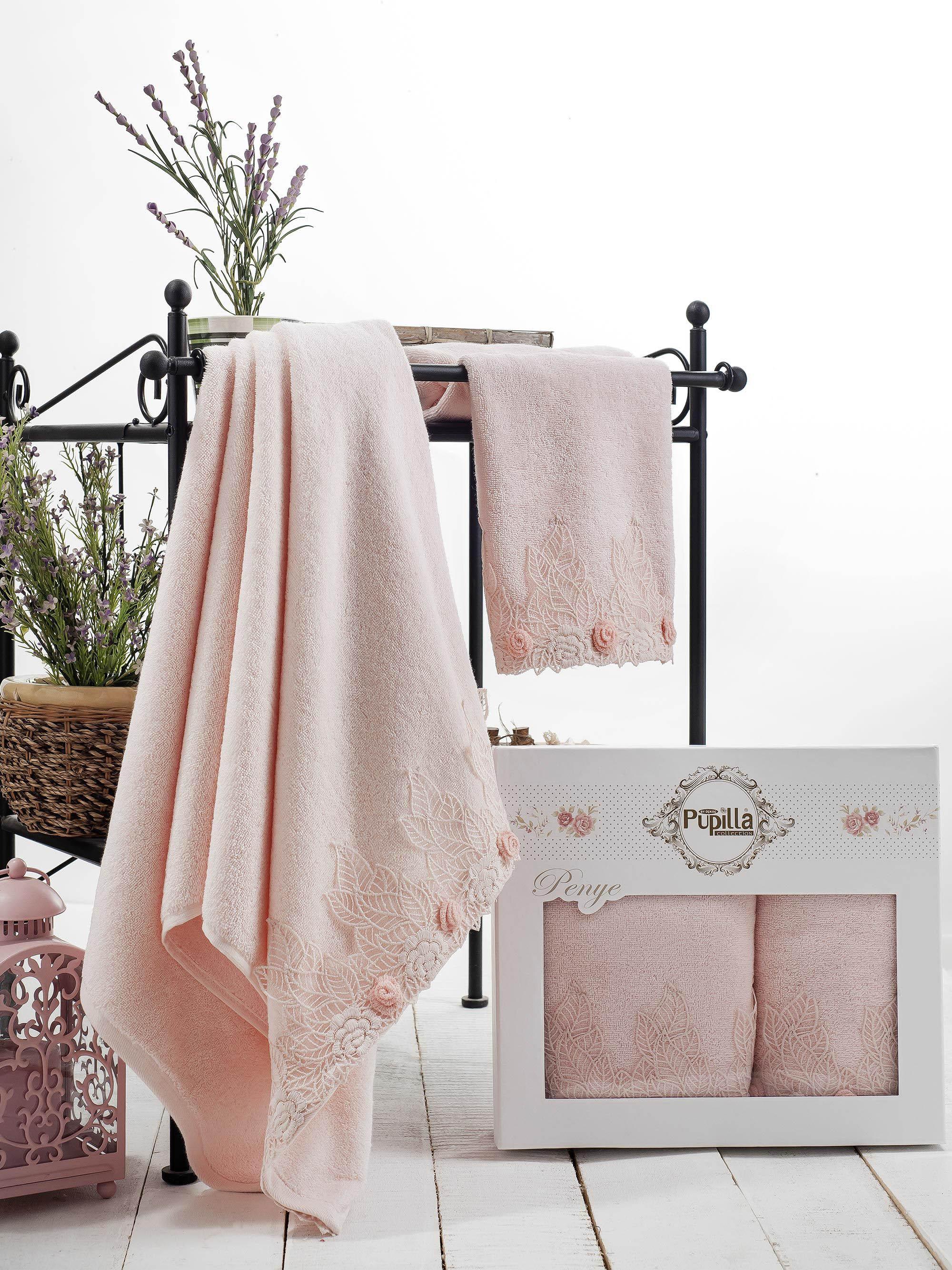 Полотенца Pupilla Набор из 2 полотенец Seren Цвет: Розовый