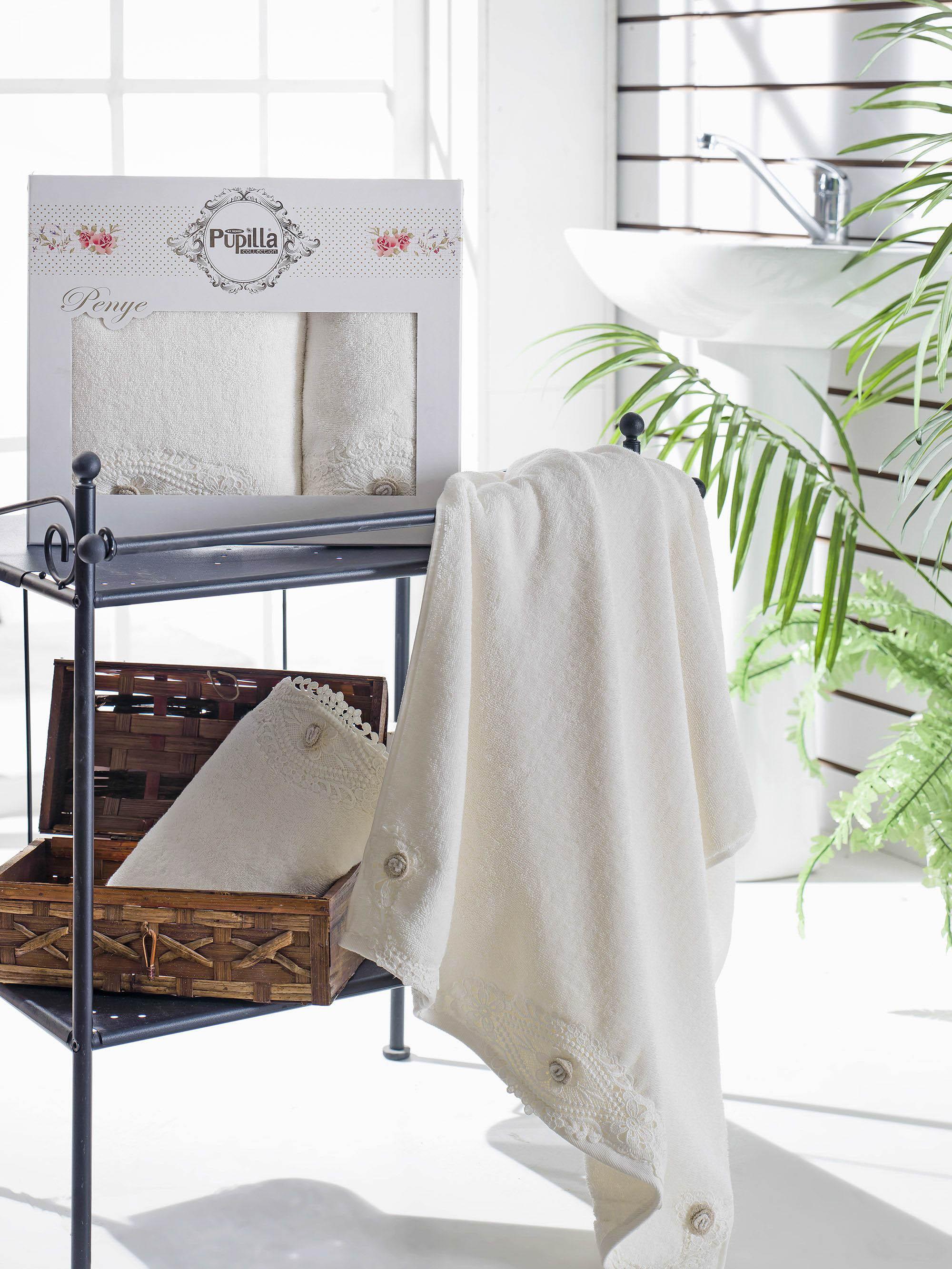 Полотенца Pupilla Набор из 2 полотенец Daisy Цвет: Кремовый