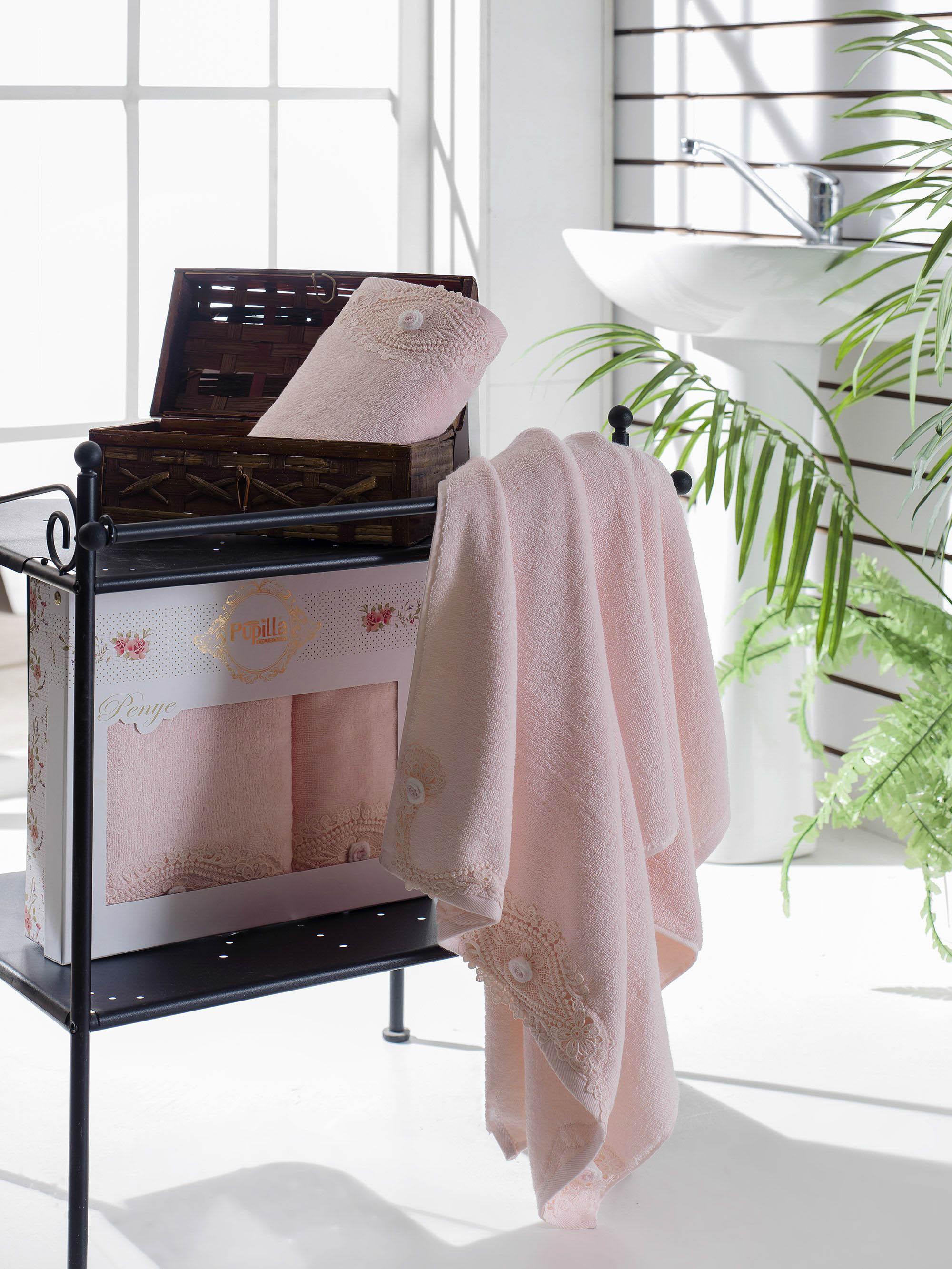 Полотенца Pupilla Набор из 2 полотенец Daisy Цвет: Розовый