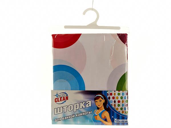 Шторы и карнизы для ванной White CLEAN Шторы для ванной Mangolia white clean шторка для ванной