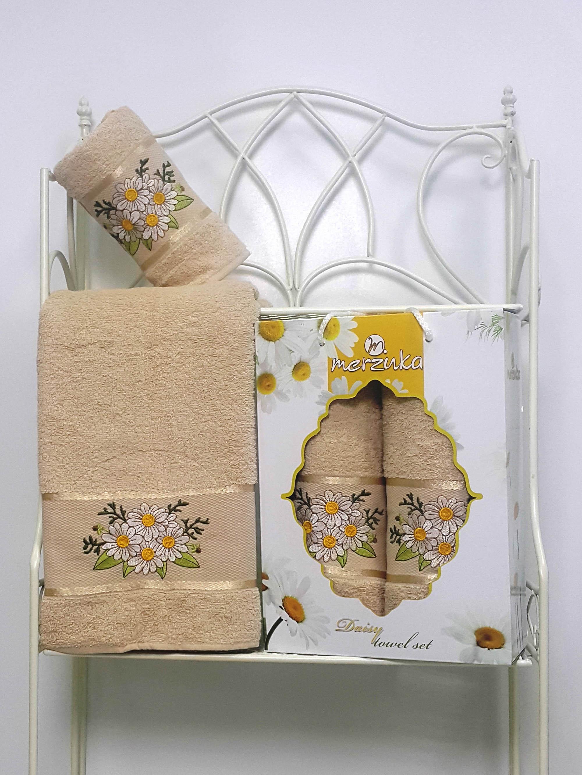 Полотенца Oran Merzuka Набор из 2 полотенец Daisy Цвет: Бежевый набор из 3 полотенец merzuka sakura 50х90 2 70х140 8432 оранжевый