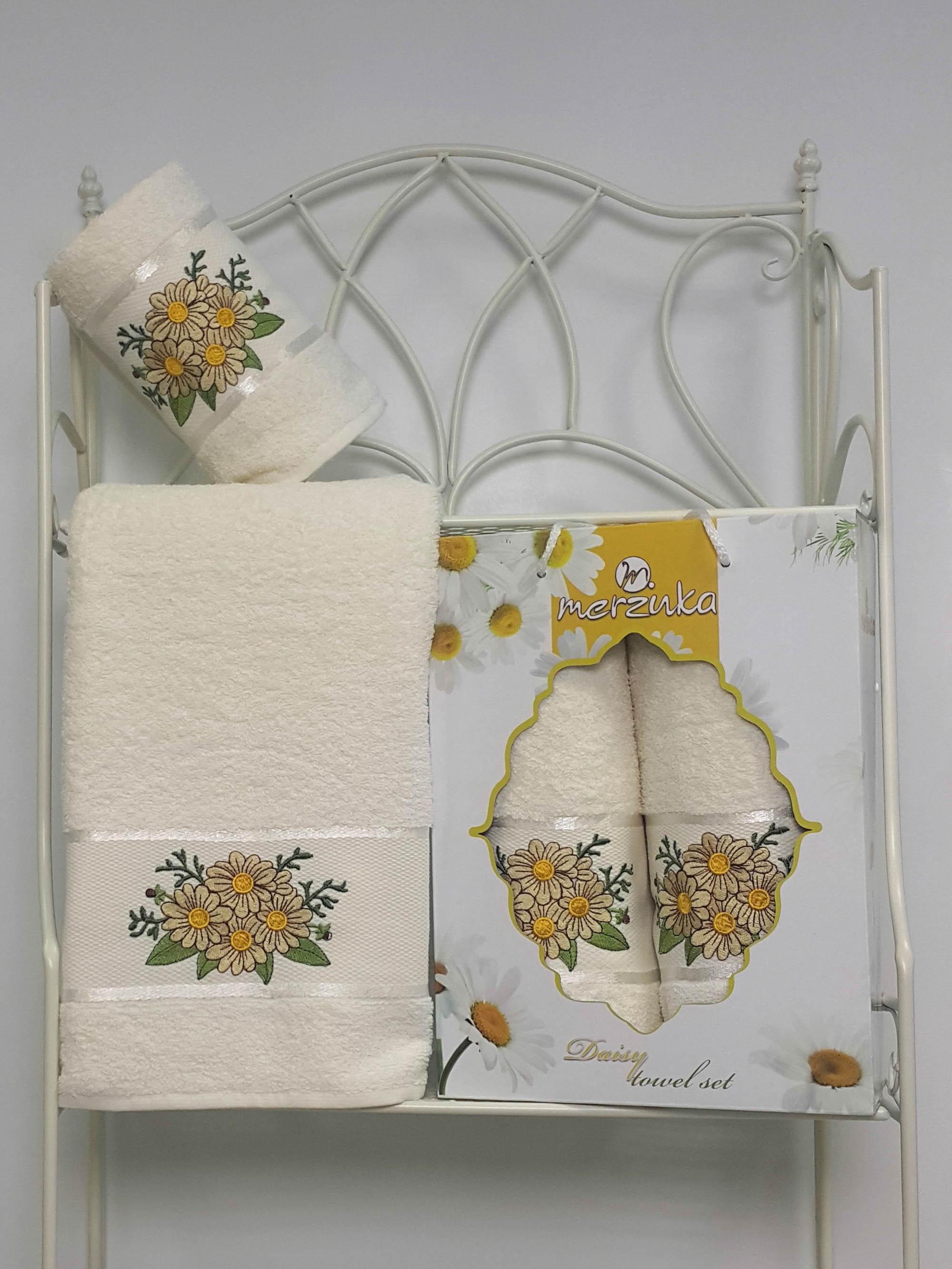 Полотенца Oran Merzuka Набор из 2 полотенец Daisy Цвет: Кремовый набор из 3 полотенец merzuka sakura 50х90 2 70х140 8432 оранжевый