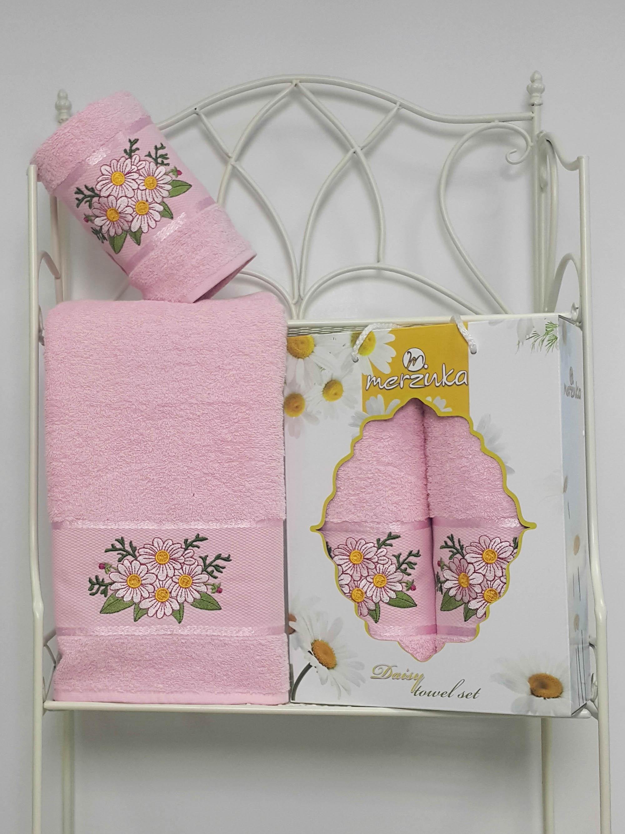 Полотенца Oran Merzuka Набор из 2 полотенец Daisy Цвет: Светло-Розовый набор из 3 полотенец merzuka sakura 50х90 2 70х140 8432 оранжевый
