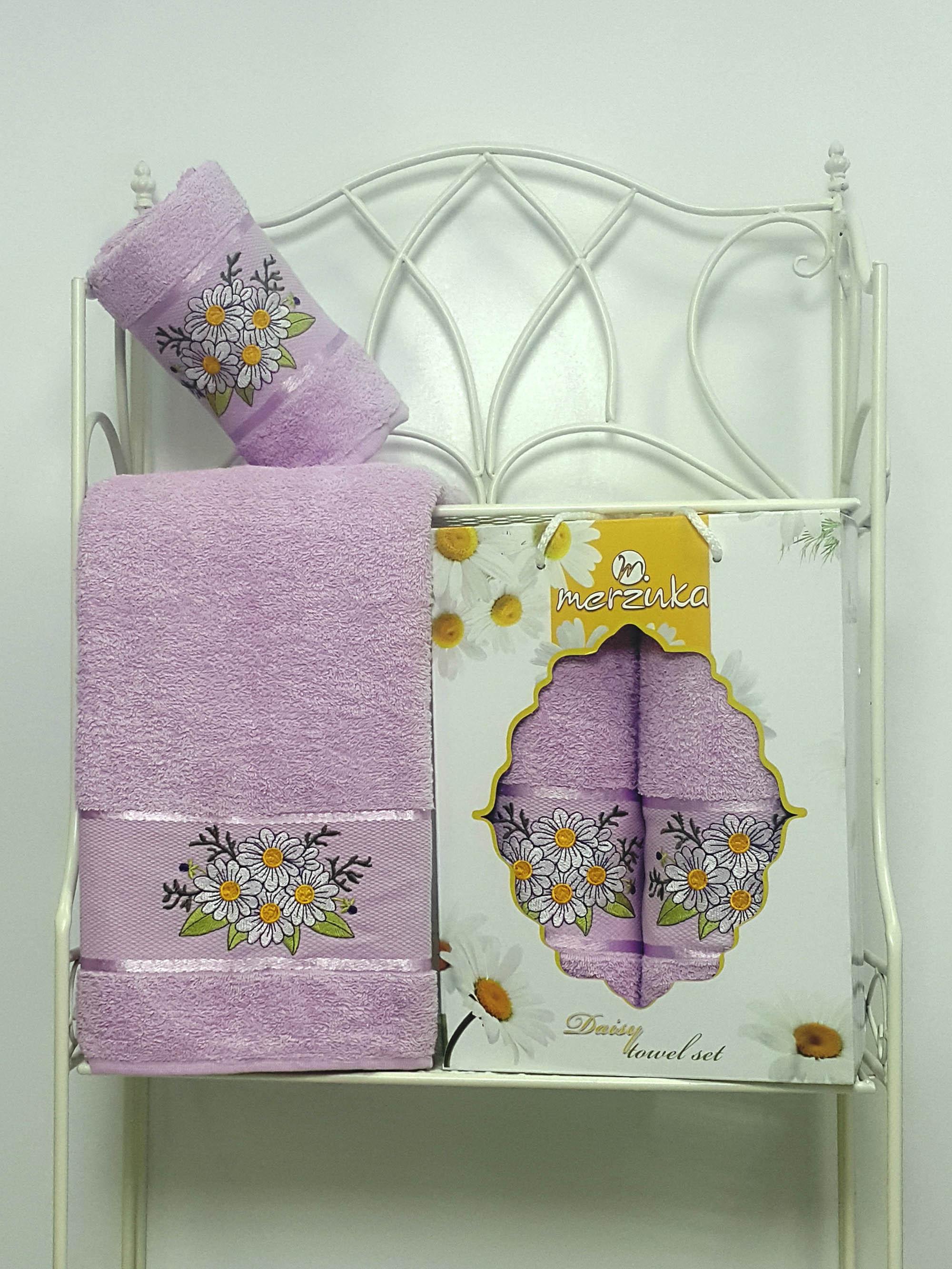 Полотенца Oran Merzuka Набор из 2 полотенец Daisy Цвет: Сиреневый набор из 3 полотенец merzuka sakura 50х90 2 70х140 8432 оранжевый