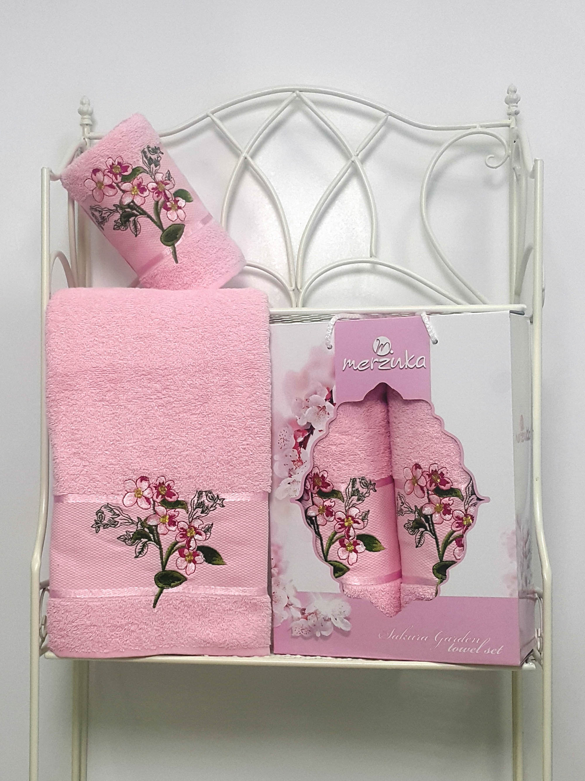 Полотенца Oran Merzuka Набор из 2 полотенец Sakura Garden Цвет: Светло-Розовый набор из 2 полотенец merzuka sakura 50х90 70х140 8430 кремовый