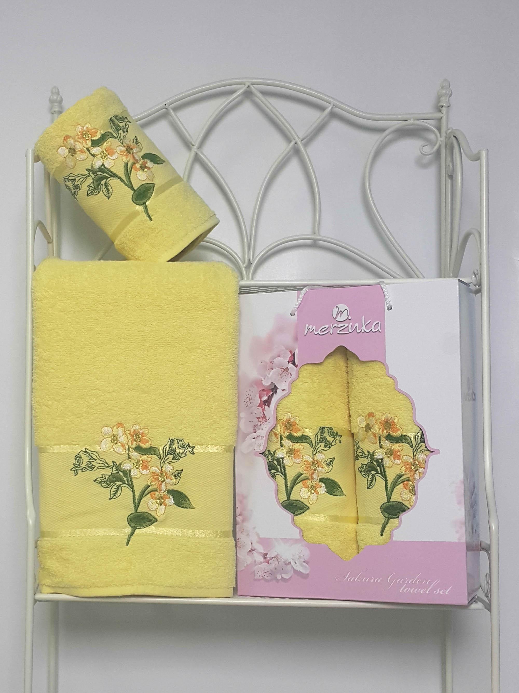 Полотенца Oran Merzuka Набор из 2 полотенец Sakura Garden Цвет: Светло-Жёлтый набор из 3 полотенец merzuka sakura 50х90 2 70х140 8432 оранжевый