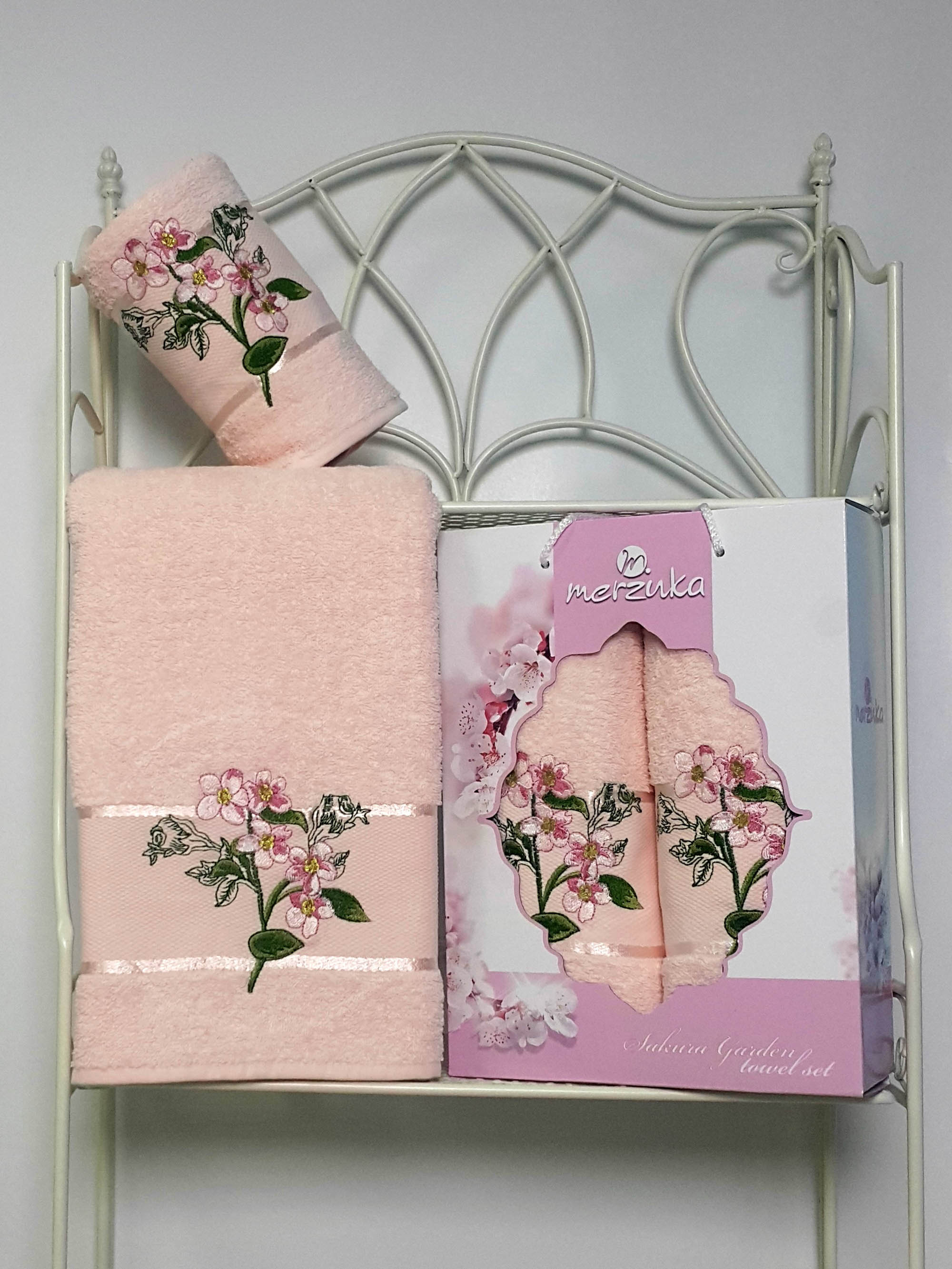 Полотенца Oran Merzuka Набор из 2 полотенец Sakura Garden Цвет: Пудра набор из 3 полотенец merzuka sakura 50х90 2 70х140 8432 оранжевый