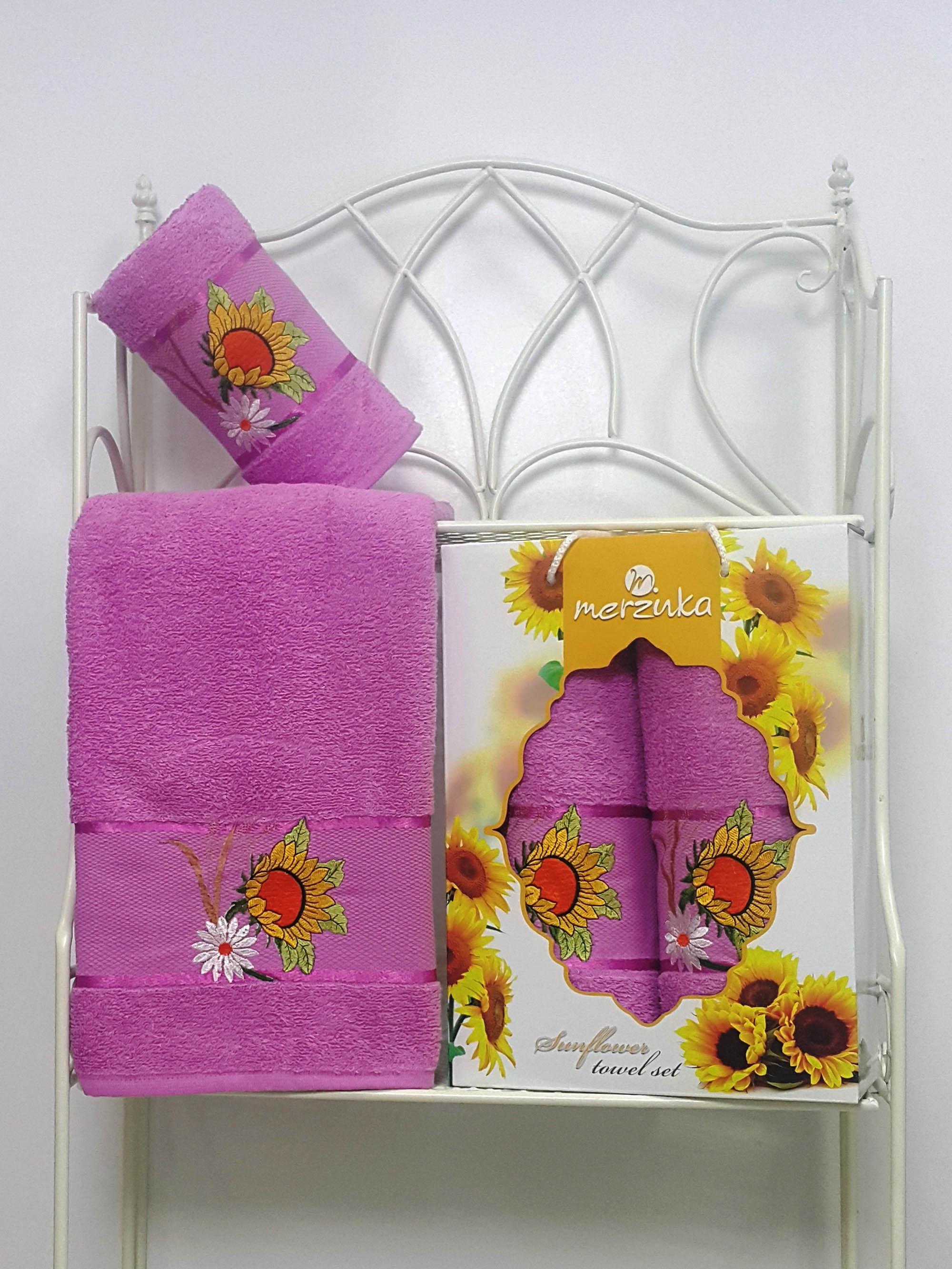 Полотенца Oran Merzuka Набор из 2 полотенец Sunflower Цвет: Светло-Лиловый набор из 3 полотенец merzuka sakura 50х90 2 70х140 8432 оранжевый