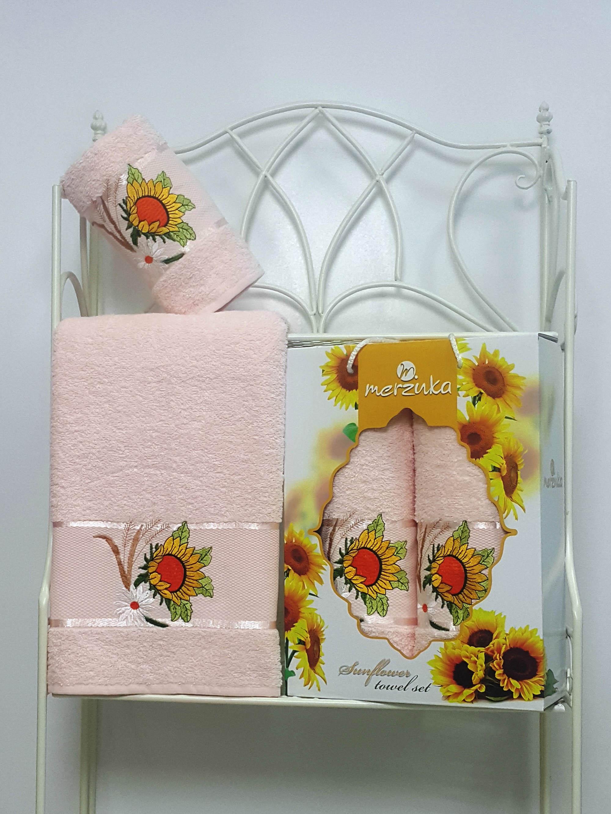 Полотенца Oran Merzuka Набор из 2 полотенец Sunflower Цвет: Пудра набор из 3 полотенец merzuka sakura 50х90 2 70х140 8432 оранжевый